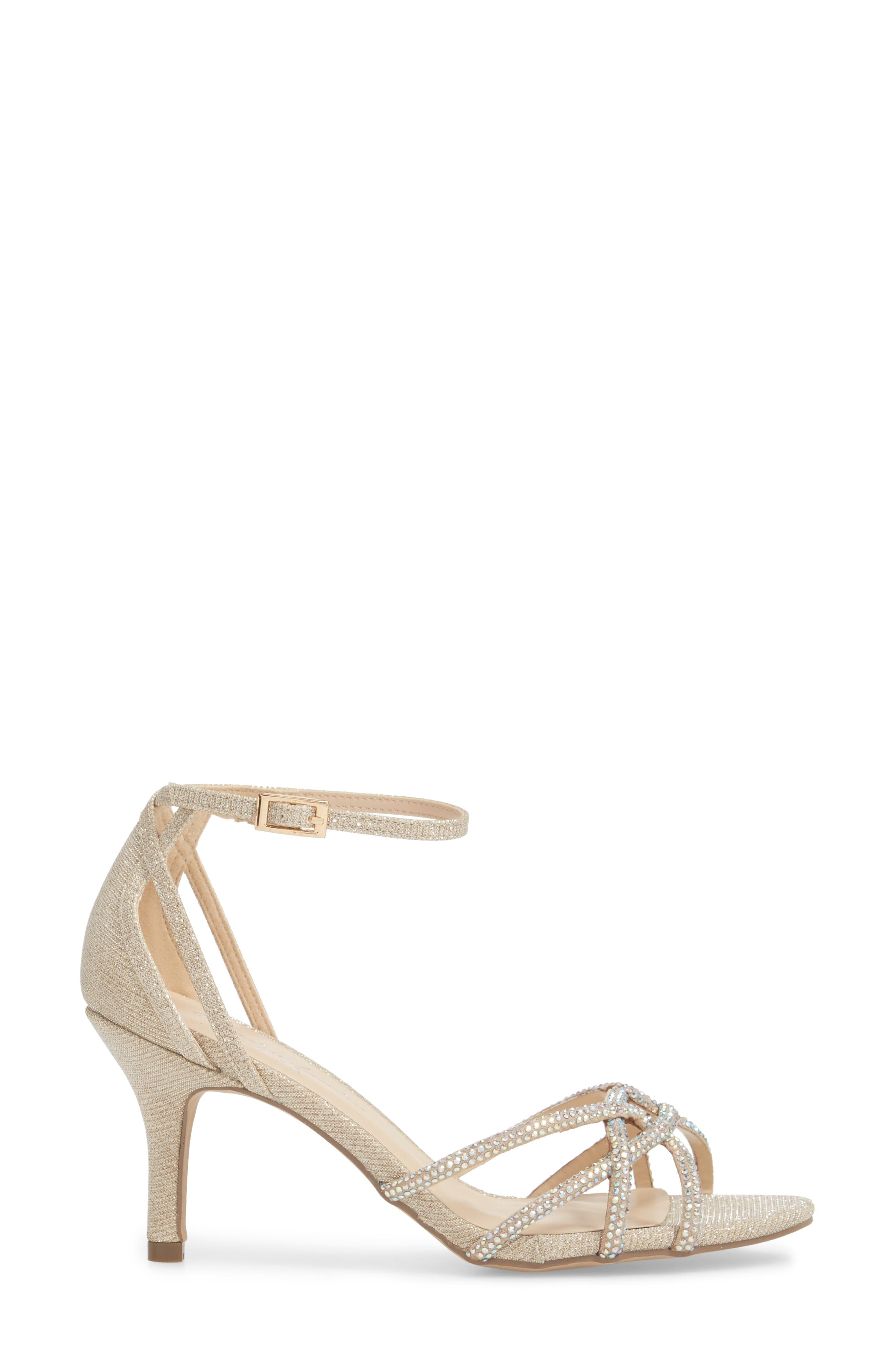Majesty Sandal,                             Alternate thumbnail 3, color,                             Champagne Fabric