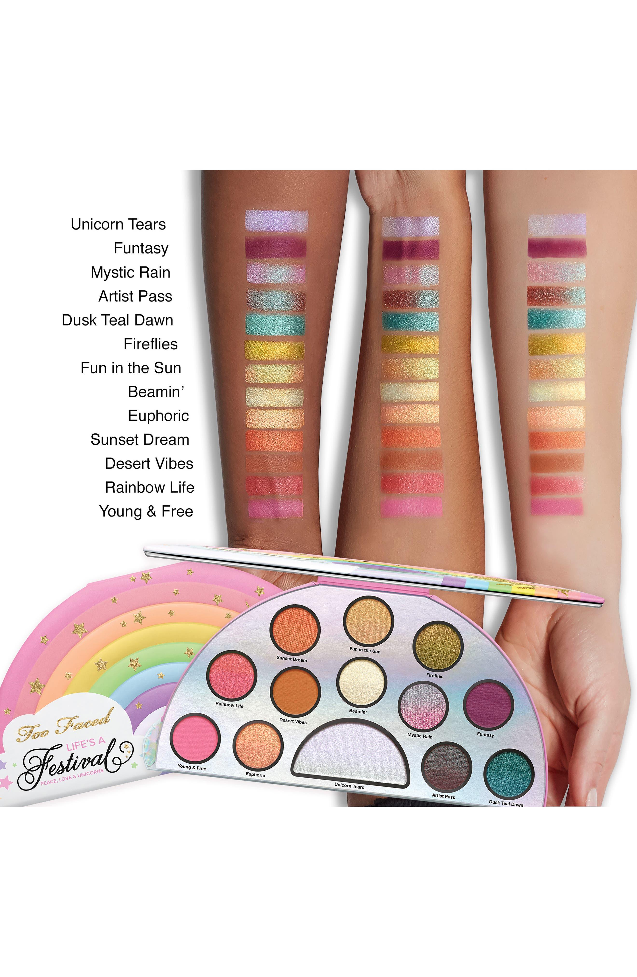 Life's A Festival Eyeshadow Palette,                             Alternate thumbnail 4, color,                             No Color