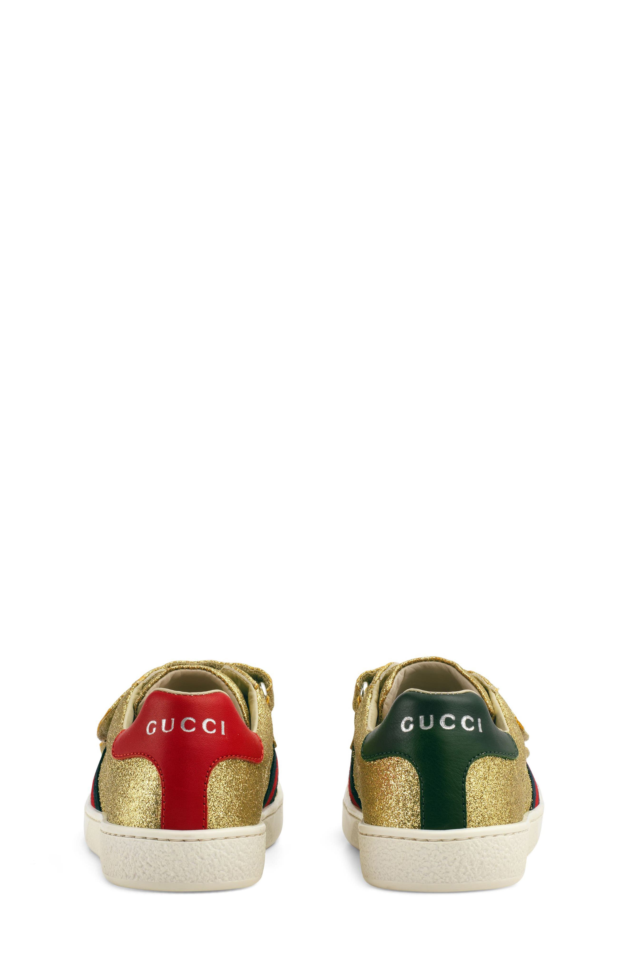 New Ace Sneaker,                             Alternate thumbnail 3, color,                             Metallic Gold