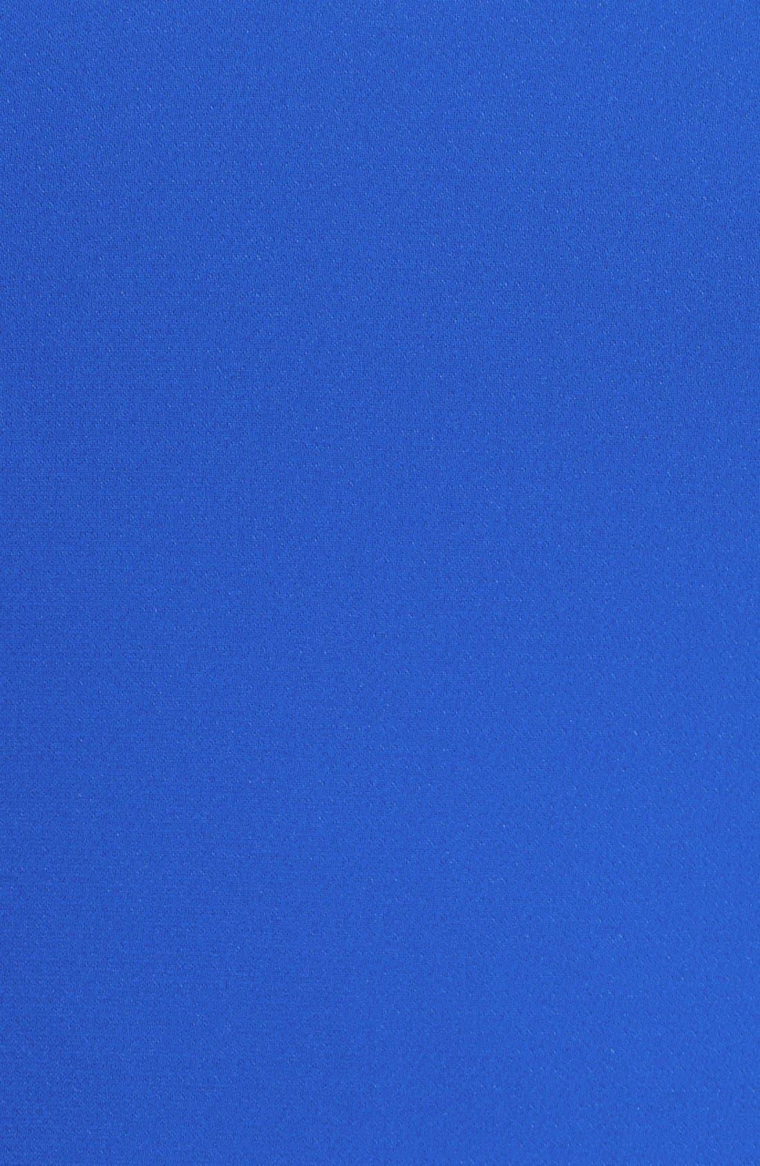 Strapless Crepe Trumpet Gown,                             Alternate thumbnail 3, color,                             Sapphire