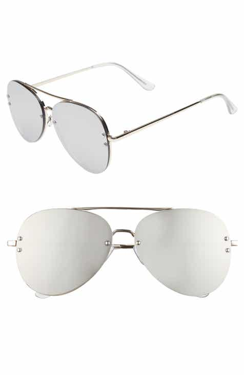 2f0c17fadd8 60mm Oversize Mirrored Aviator Sunglasses