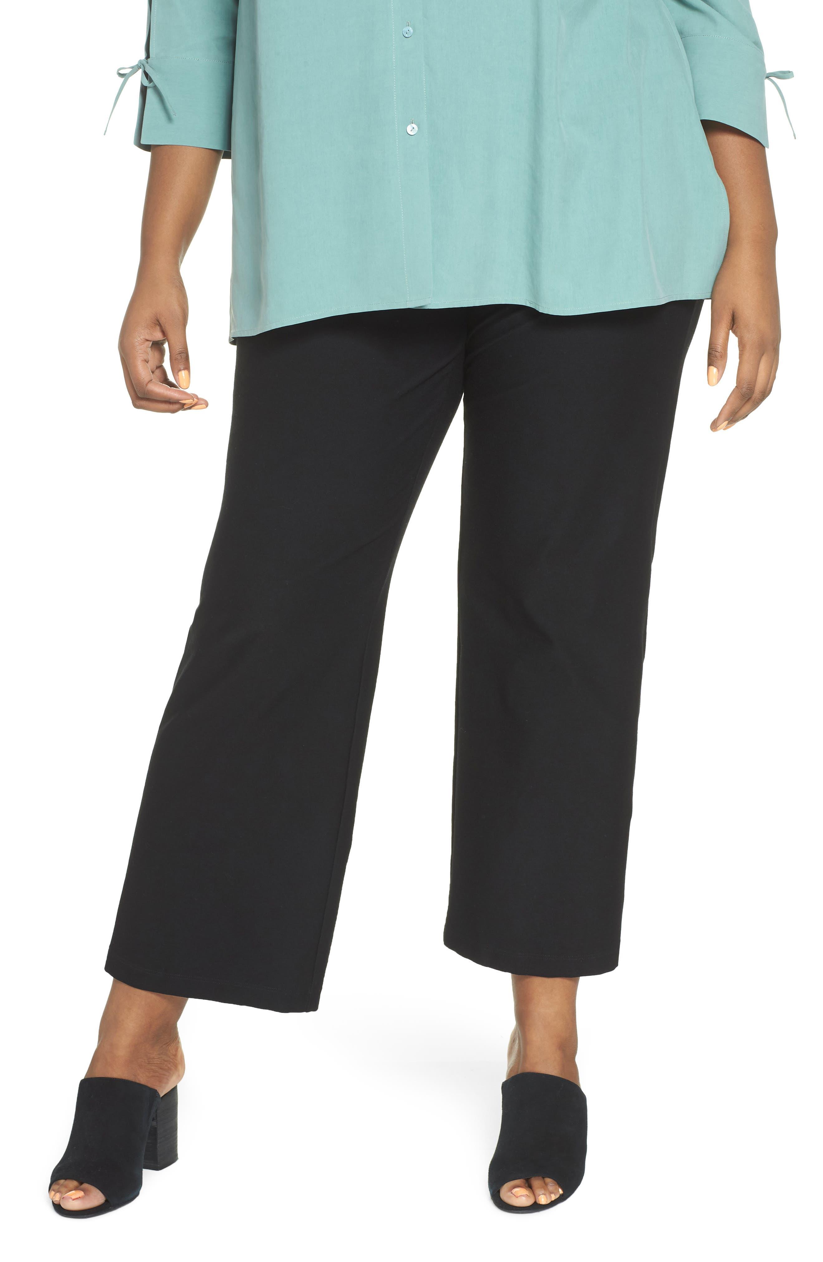 Straight Leg Knit Pants,                         Main,                         color, Black