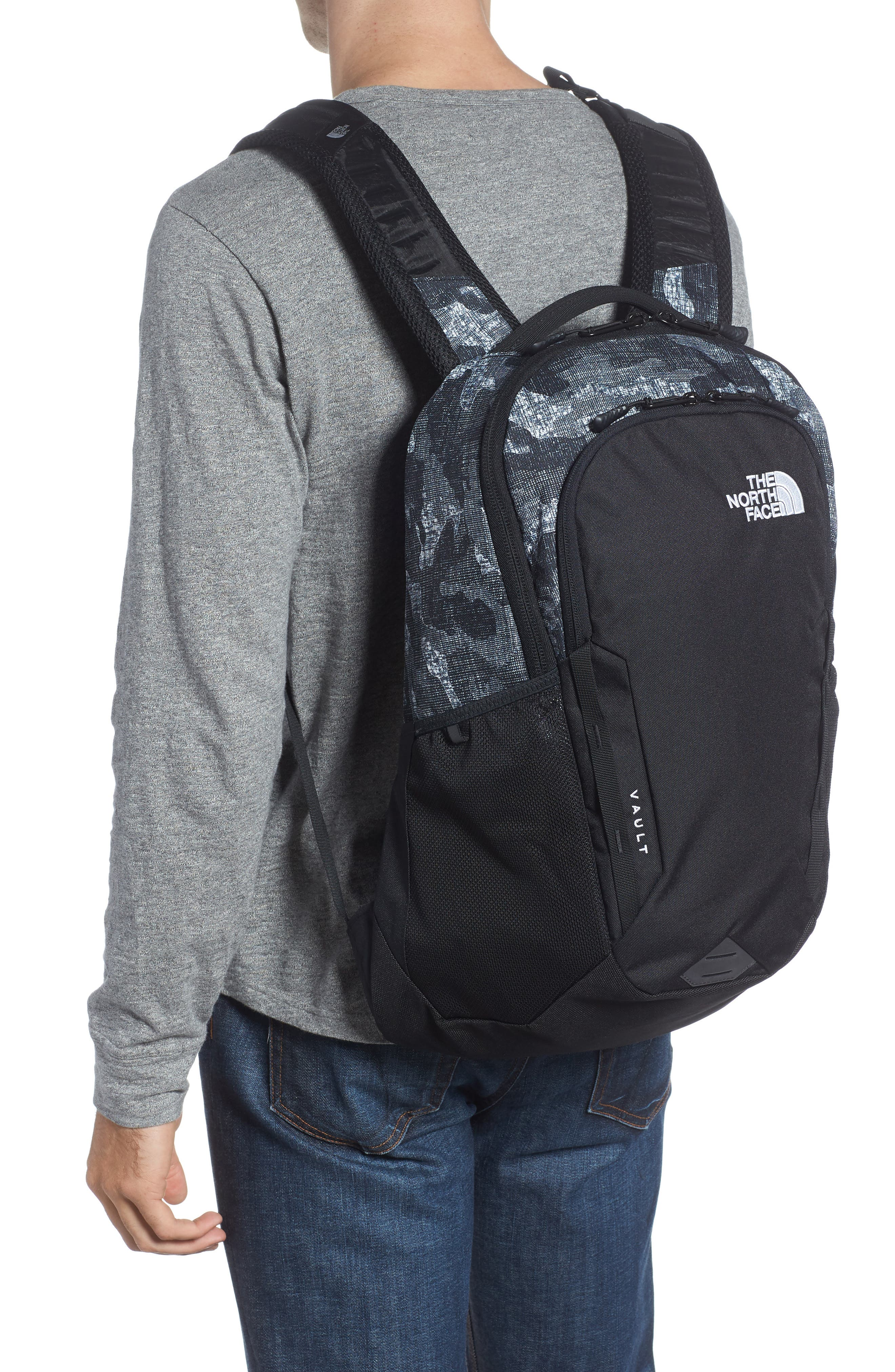 Vault Backpack,                             Alternate thumbnail 2, color,                             Tnf Black Textured Camo Print