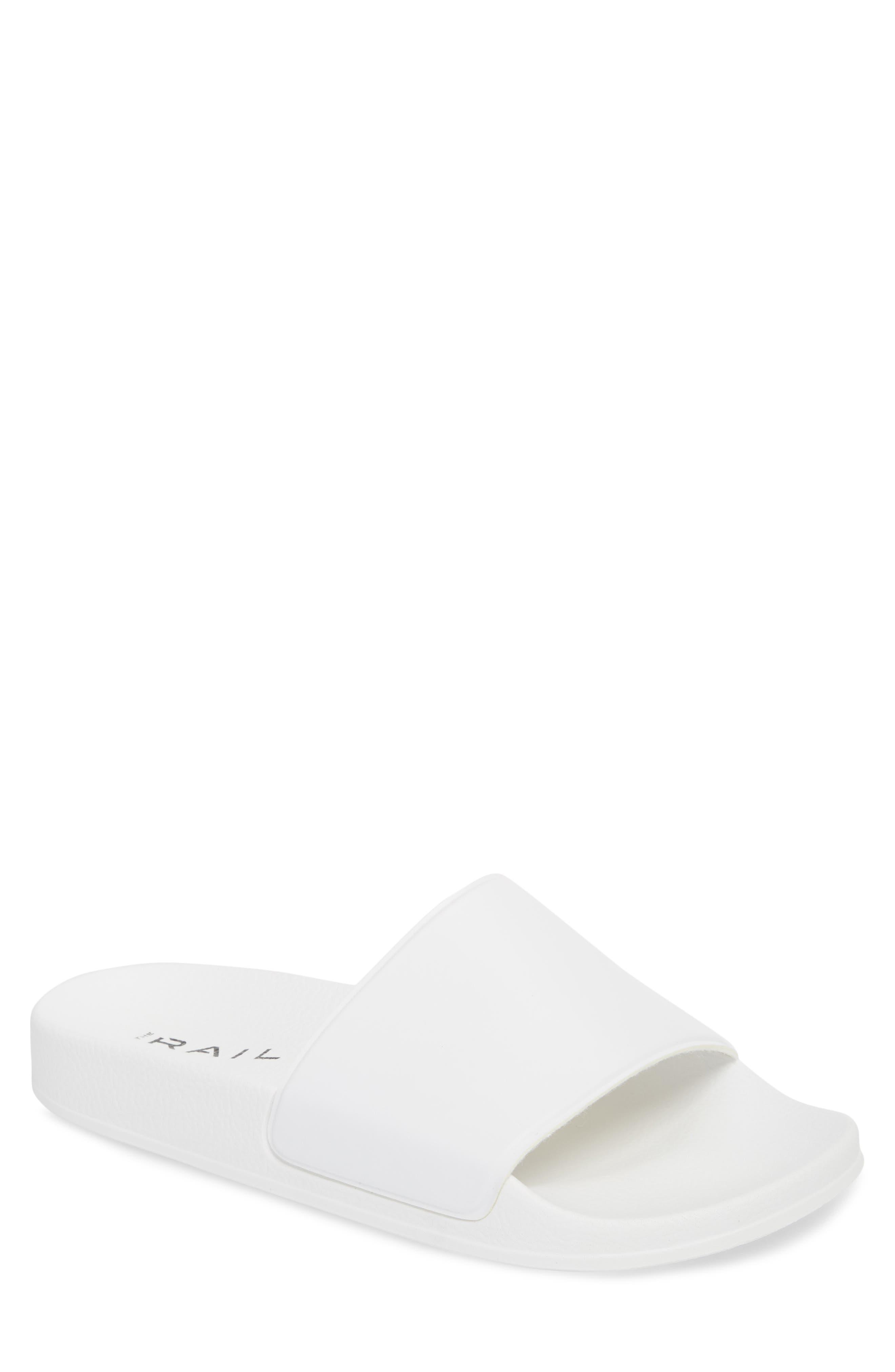 Bondi Slide Sandal,                             Main thumbnail 1, color,                             White