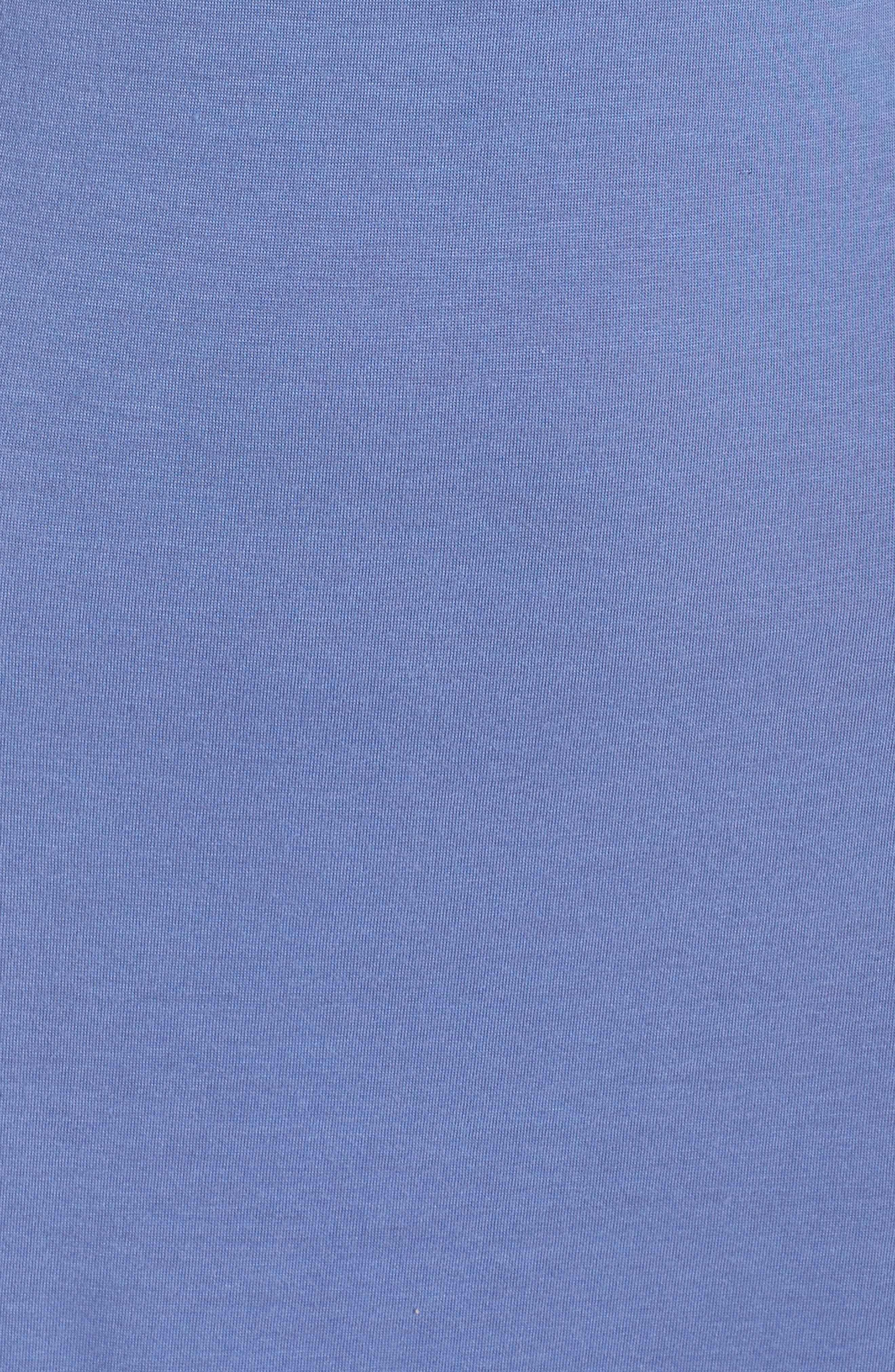 Luxe Shangri-La Nightgown,                             Alternate thumbnail 5, color,                             Wedgewood