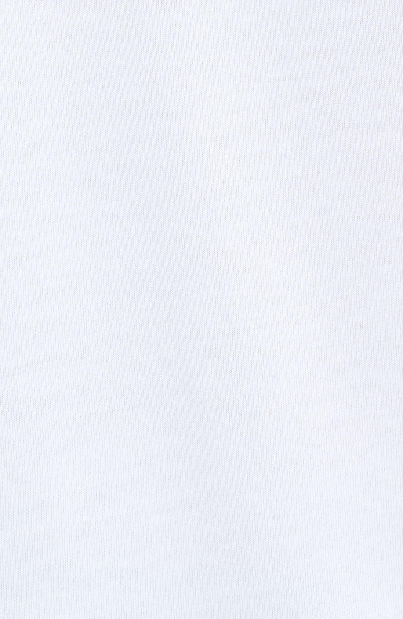 Flight Mash-Up T-Shirt,                             Alternate thumbnail 5, color,                             White/ Emerald Rise