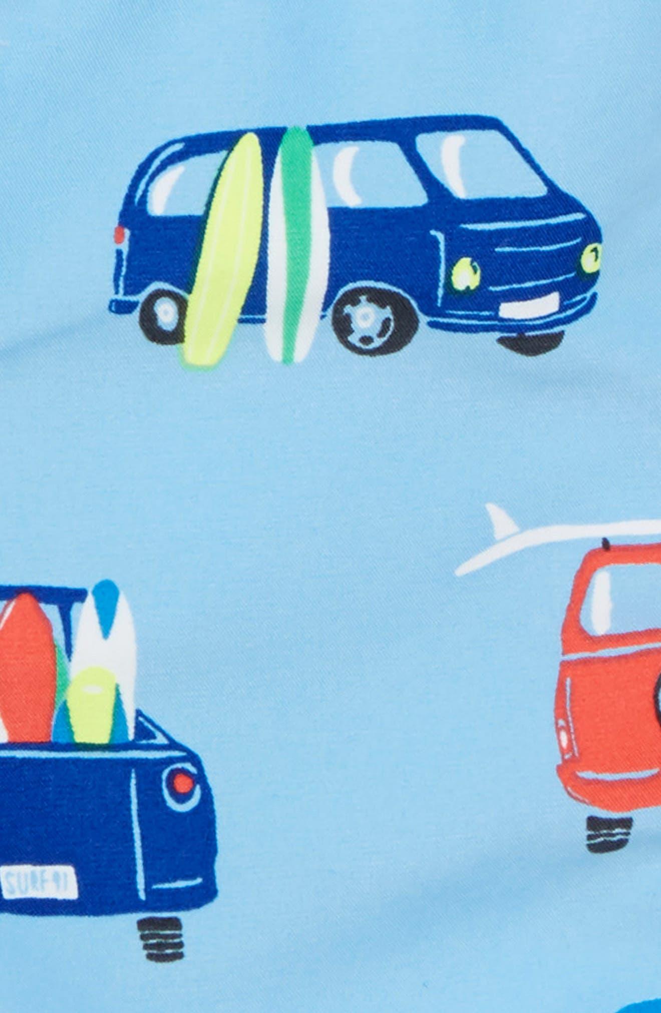 Swim Trunks,                             Alternate thumbnail 3, color,                             Surfboard Blue Surf Vans
