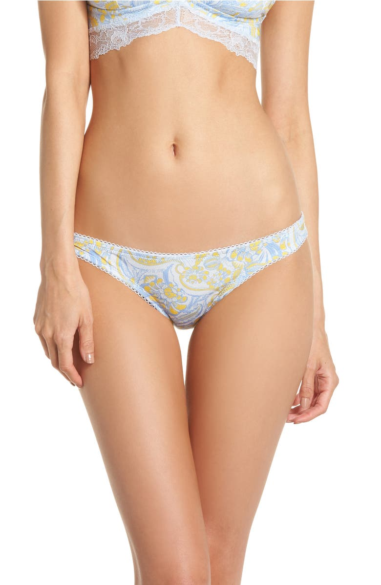 4f84d8af077fe Free People Intimately Fp Phoebe Print Bikini In Ivory Combo ...
