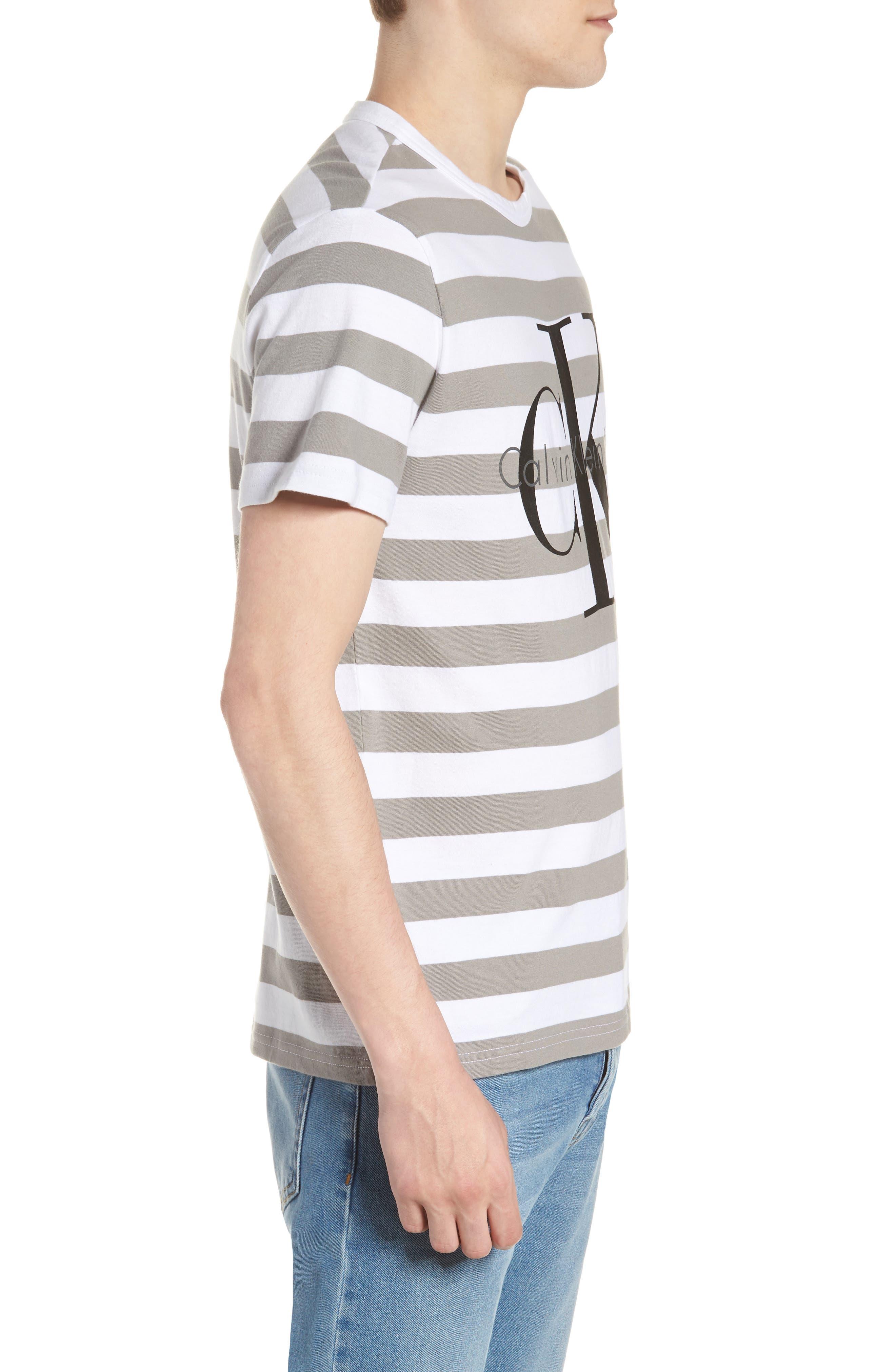 Stripe Reissue T-Shirt,                             Alternate thumbnail 4, color,                             Standard White