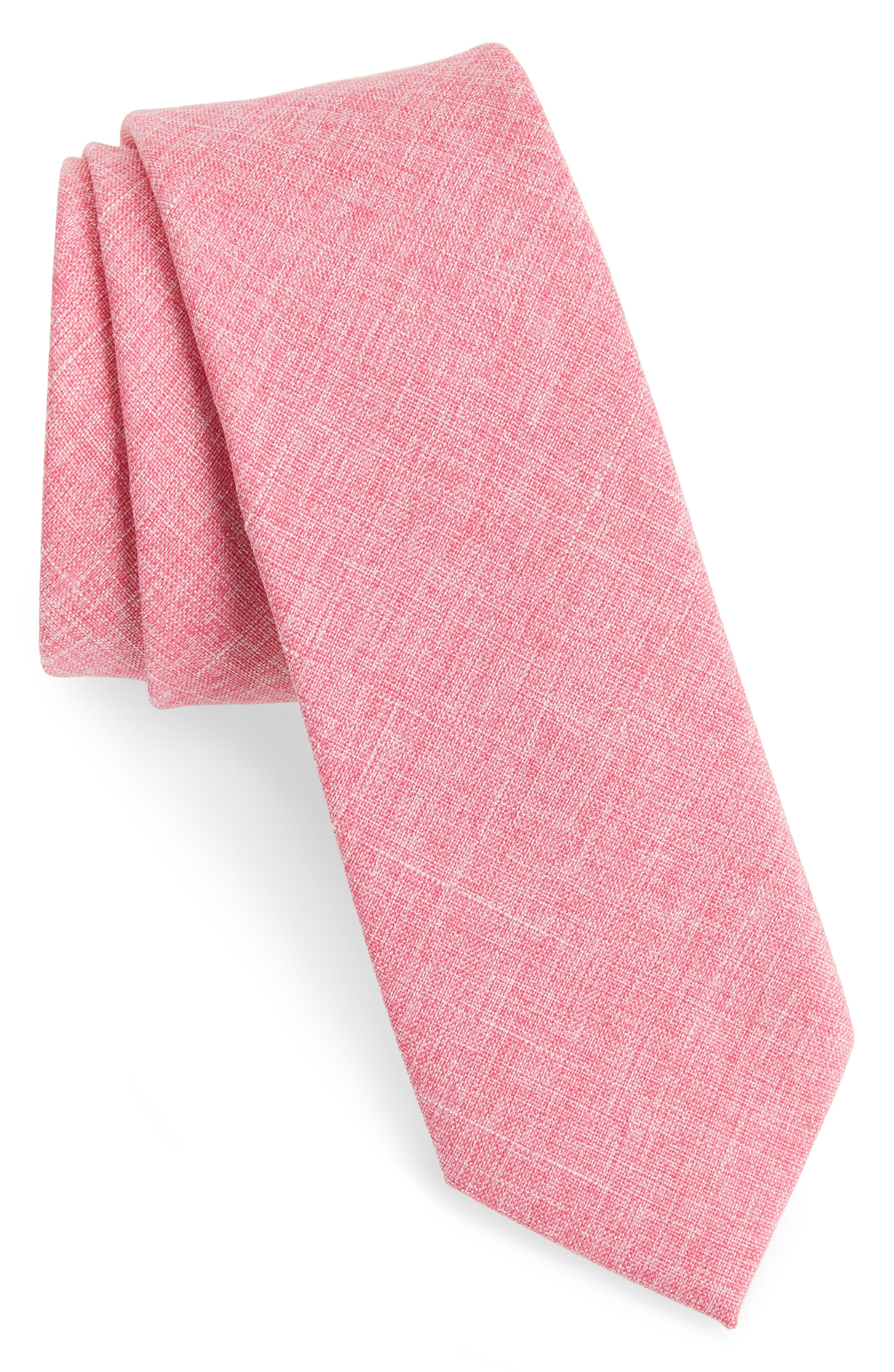 Pinyon Solid Tie,                             Main thumbnail 1, color,                             Red