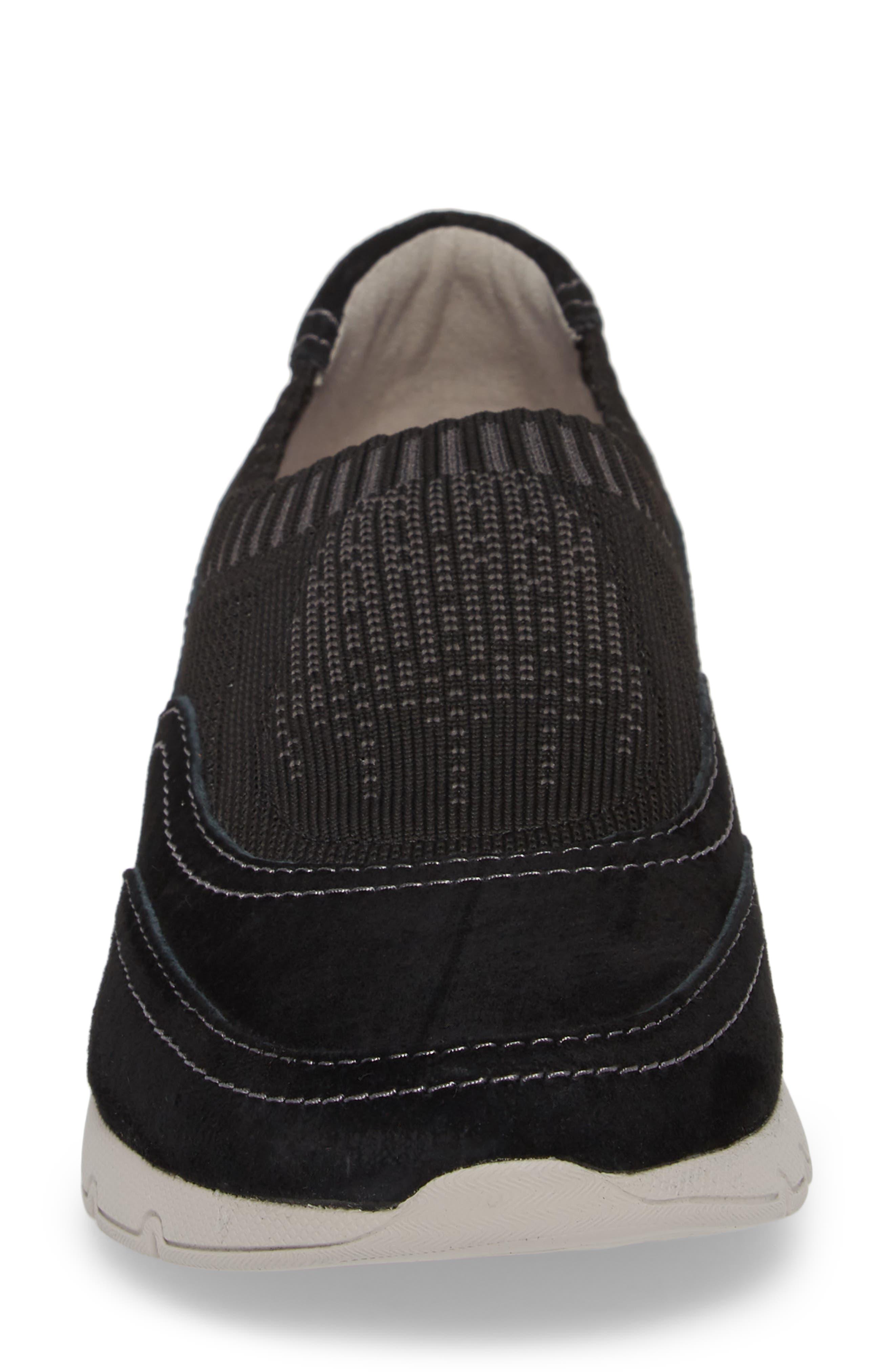 Alice Slip-On Sneaker,                             Alternate thumbnail 5, color,                             Black Suede