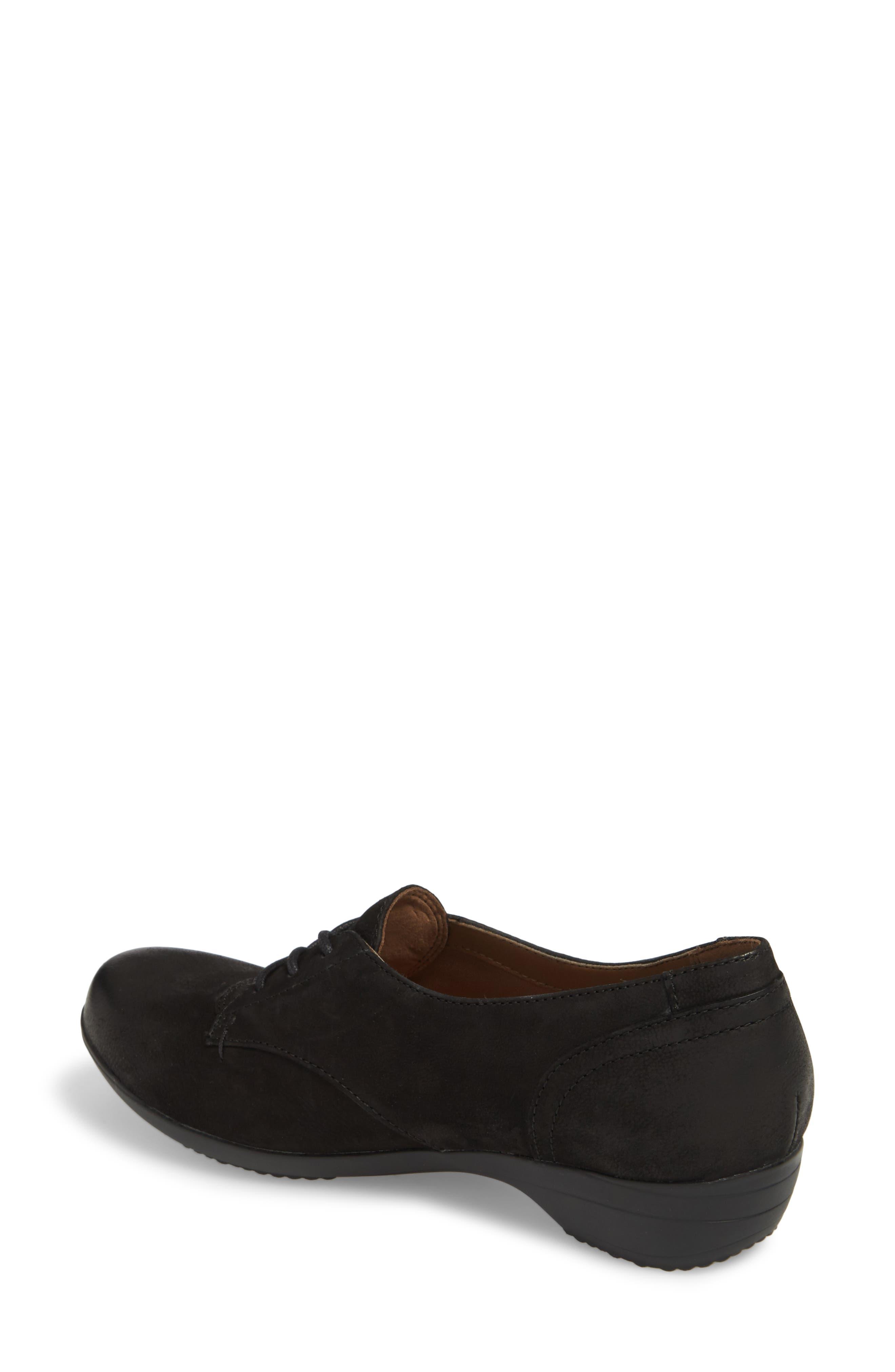 Fallon Derby,                             Alternate thumbnail 2, color,                             Black Burnished Nubuck Leather