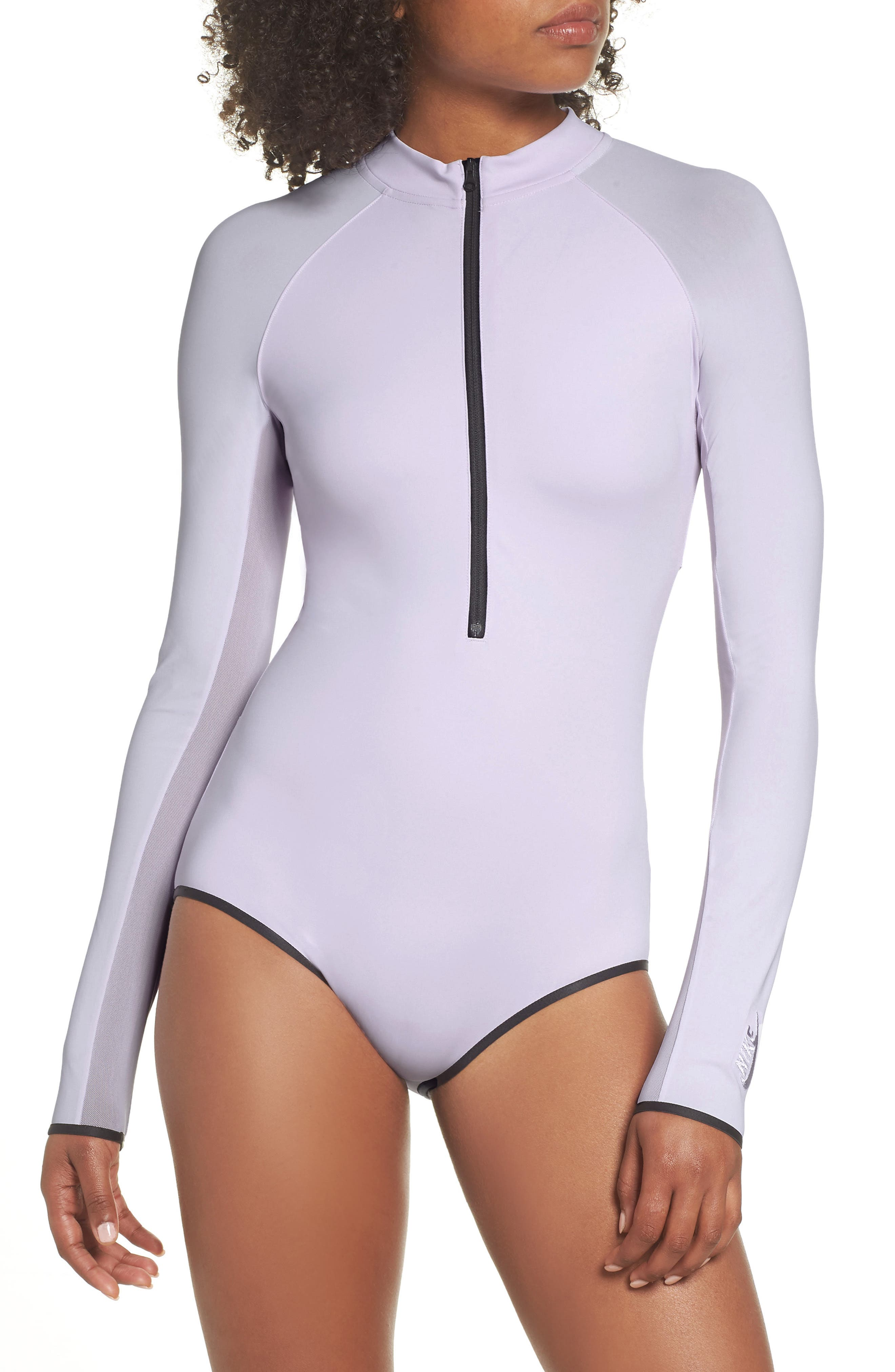NRG Women's Dri-FIT Long Sleeve Bodysuit,                             Main thumbnail 1, color,                             Barely Grape/ Barely Grape