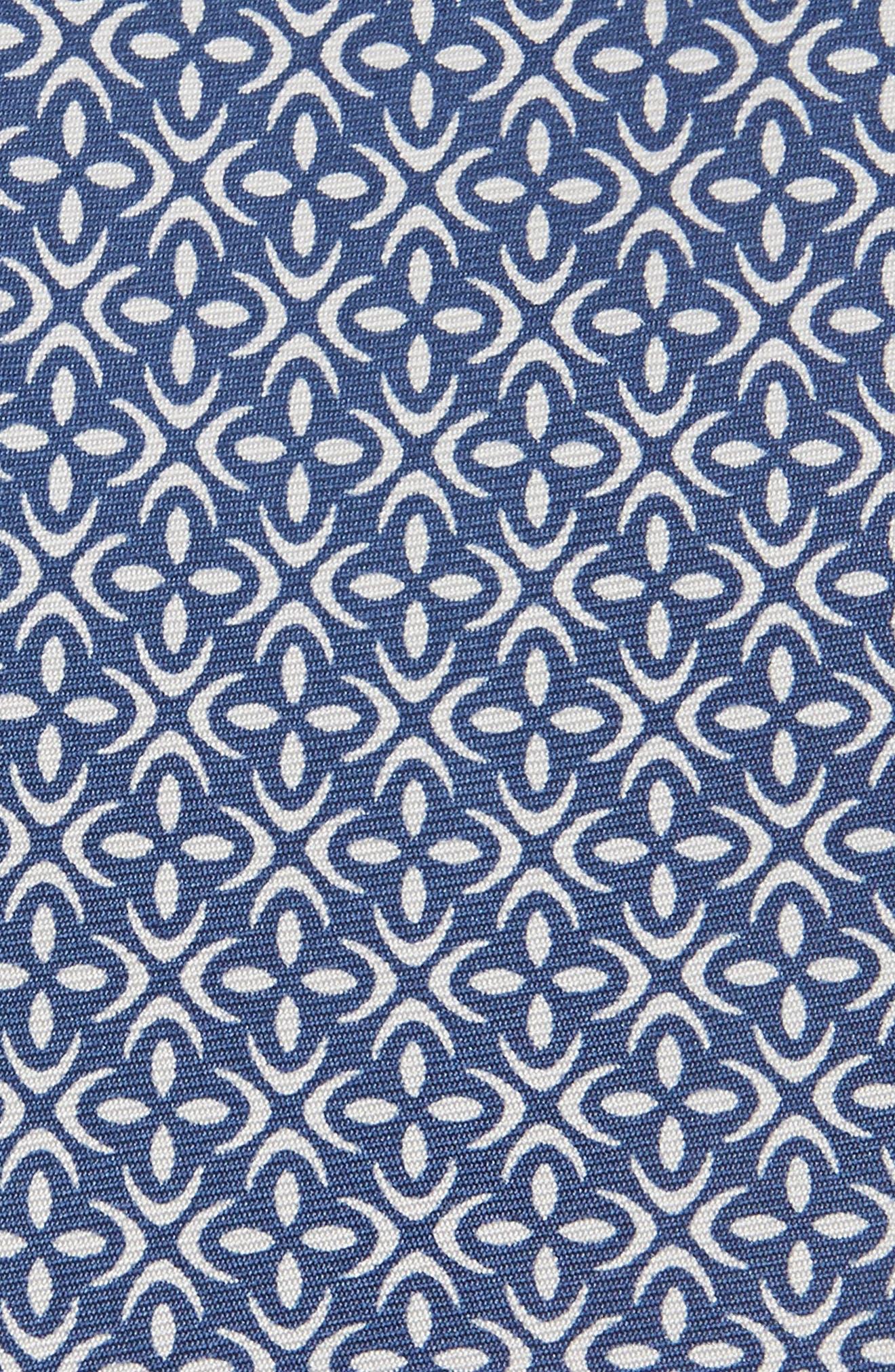 Fischer Geometric Skinny Silk Tie,                             Alternate thumbnail 2, color,                             Blue
