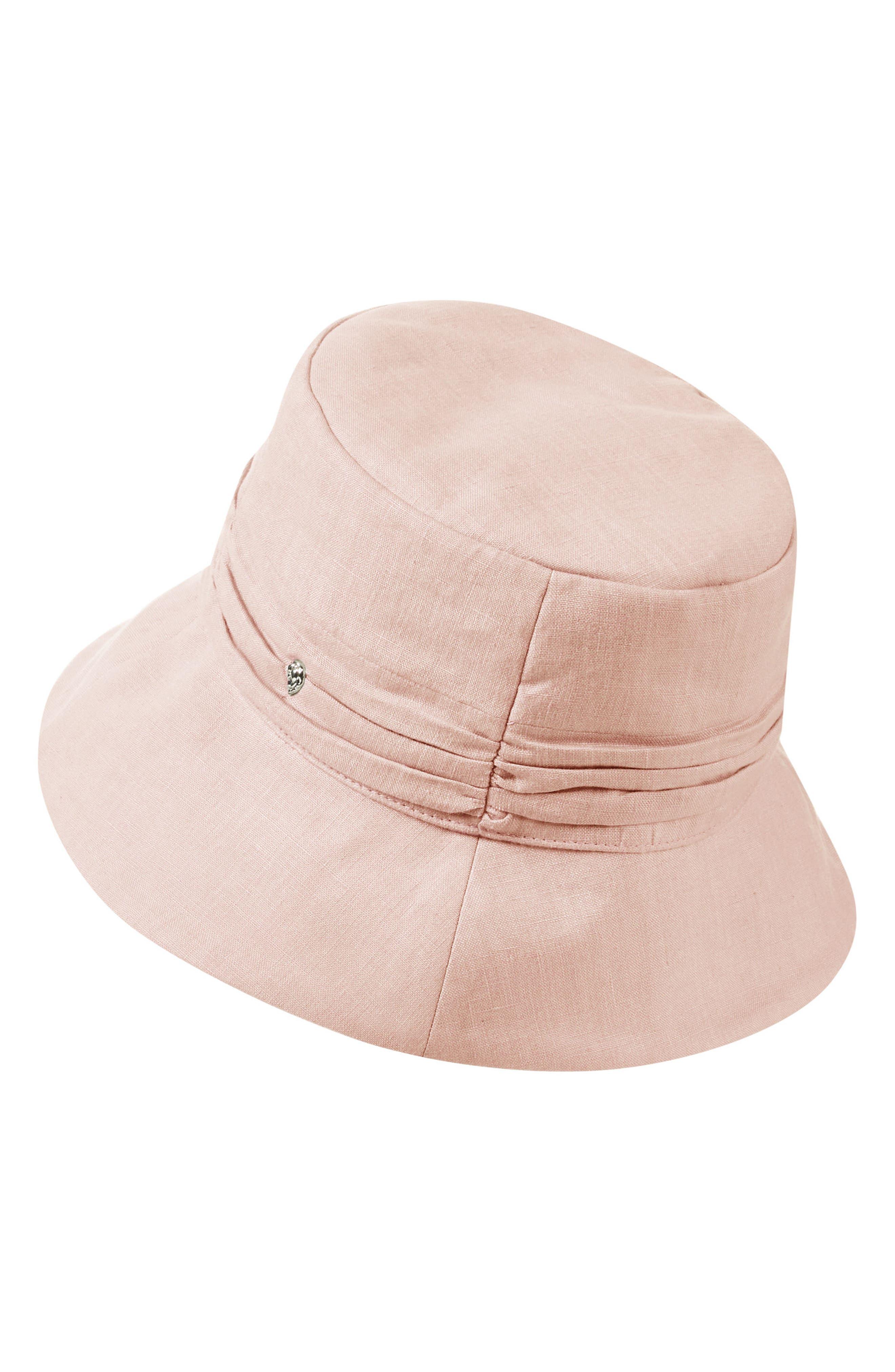 LINEN BUCKET HAT - PINK