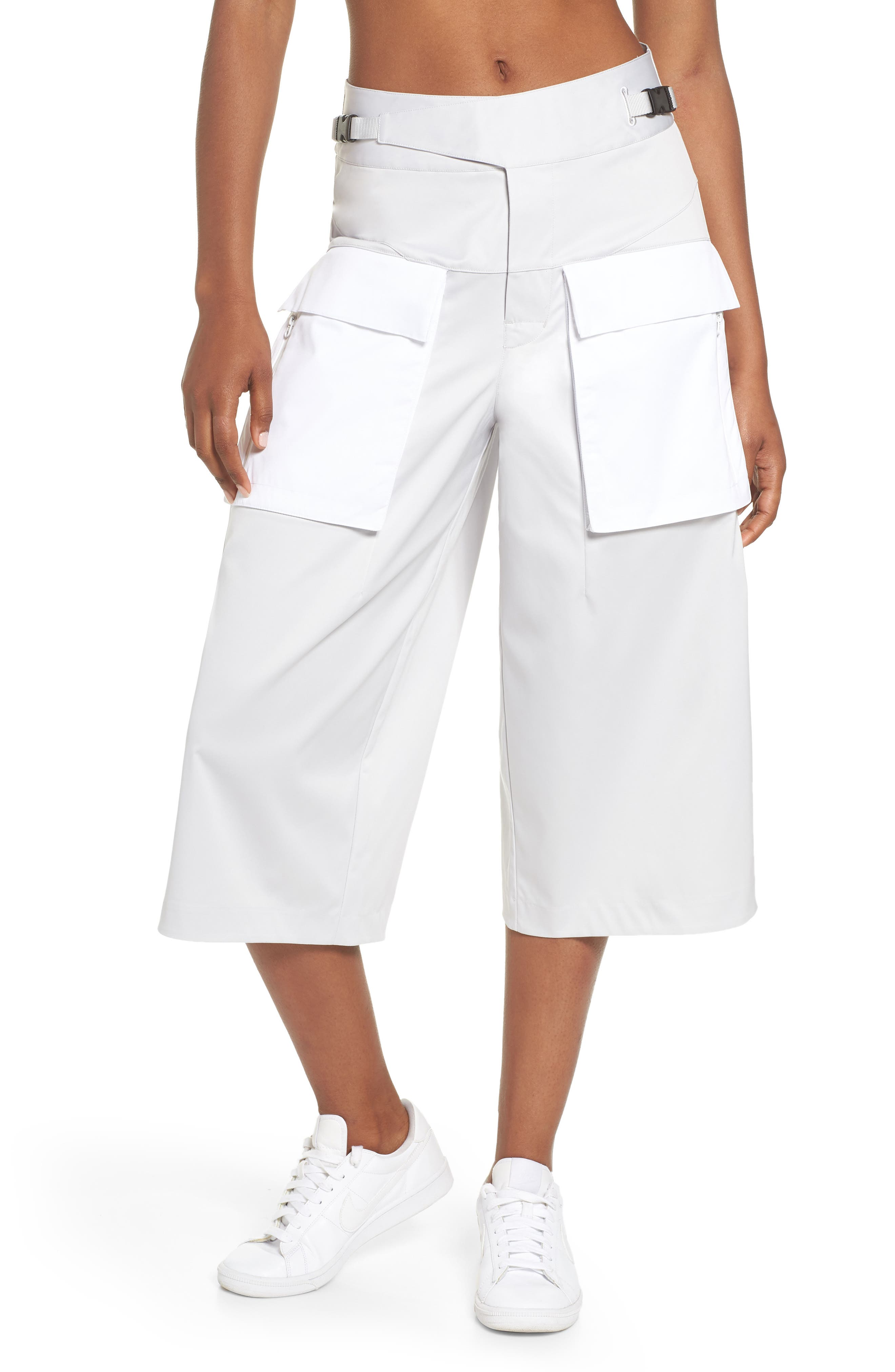 Utility Culottes,                             Main thumbnail 1, color,                             Vast Grey/ White/ Vast Grey