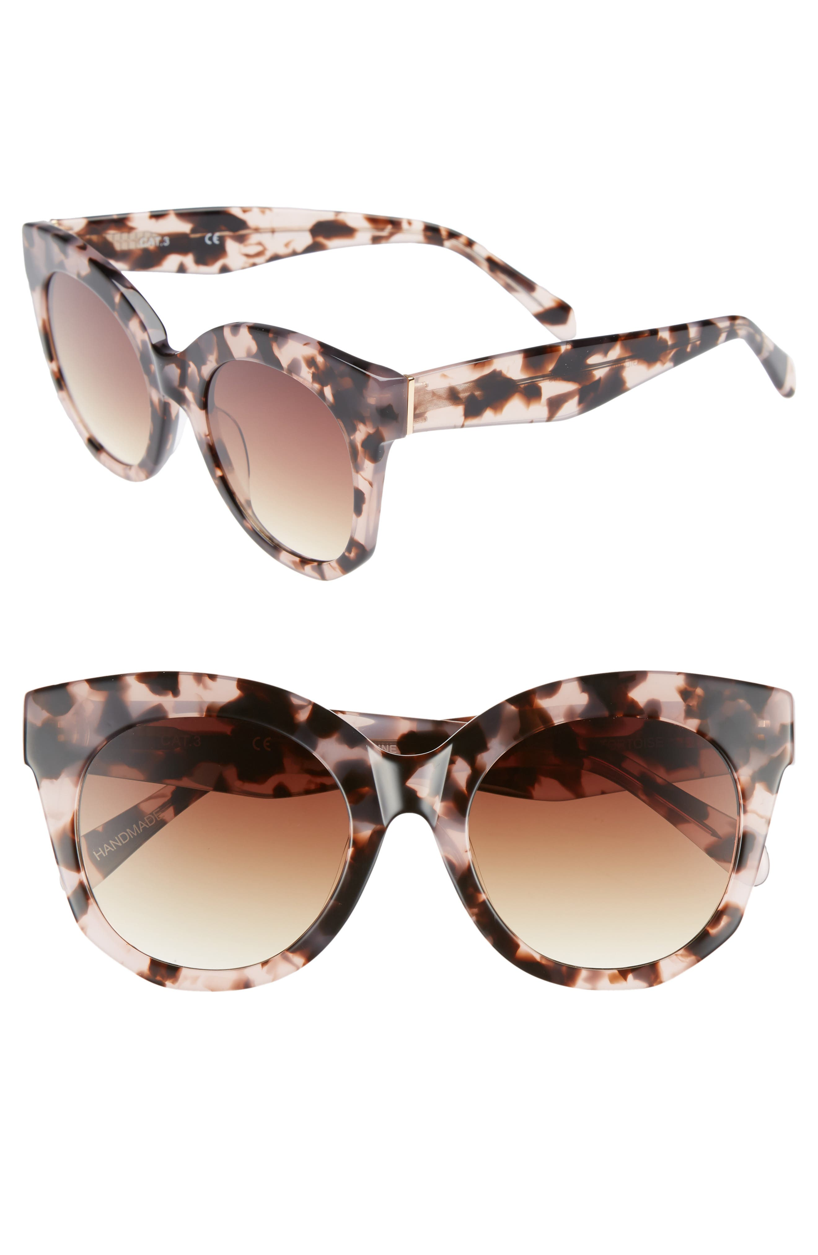 Gillian 52mm Sunglasses,                             Main thumbnail 1, color,                             Pink Tortoise