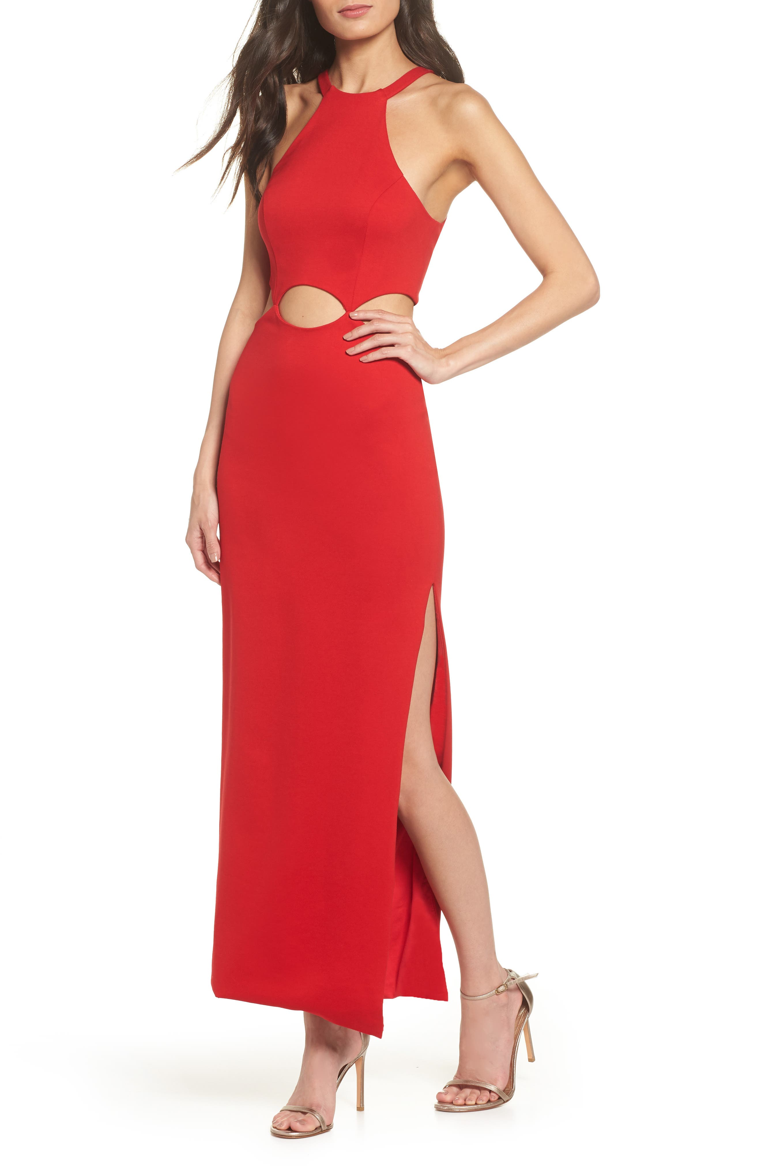 FAME AND PARTNERS THE ANNALISE CUTOUT GOWN