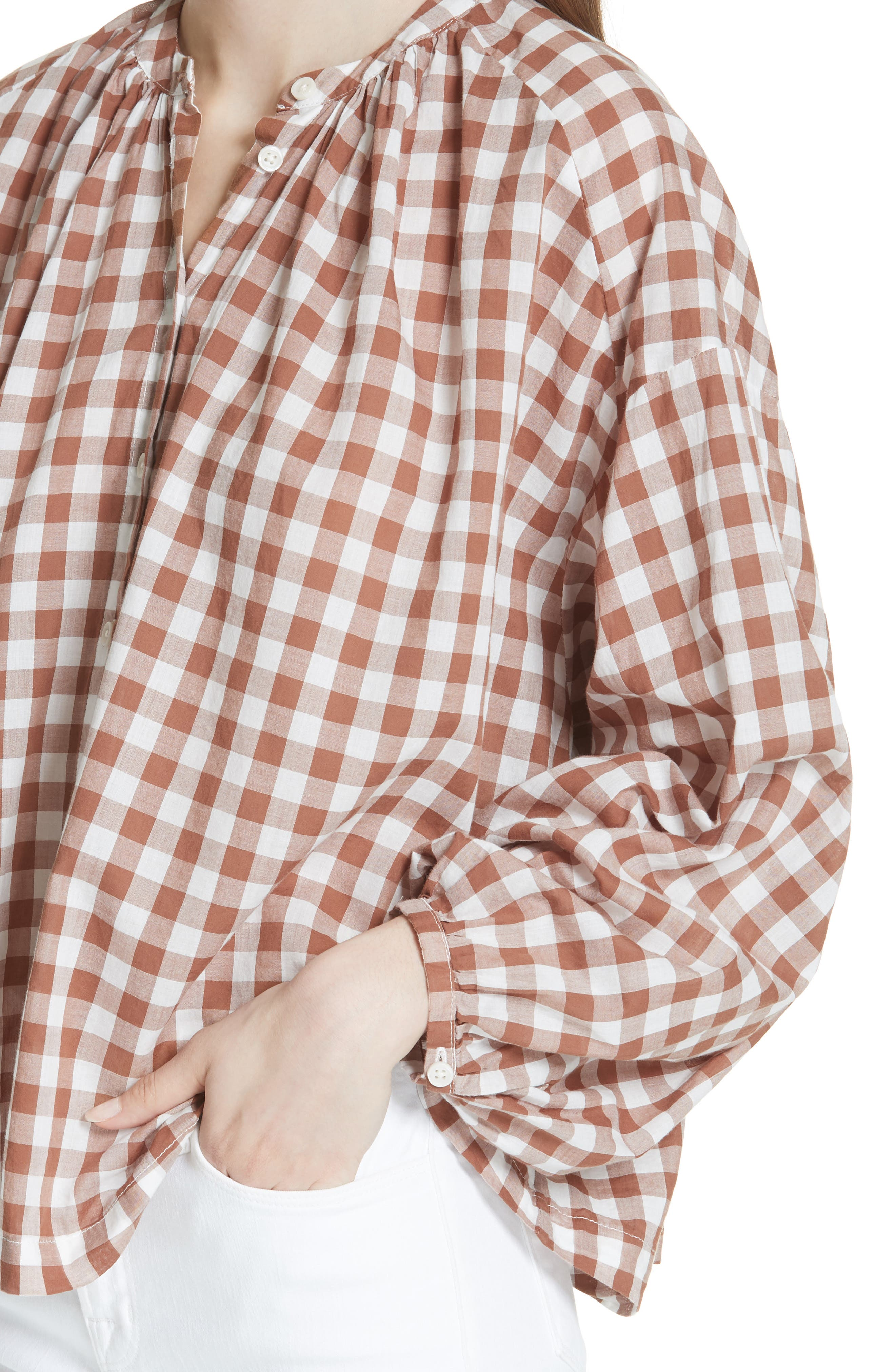 The Handsome Button-Up Shirt,                             Alternate thumbnail 4, color,                             Carob Check