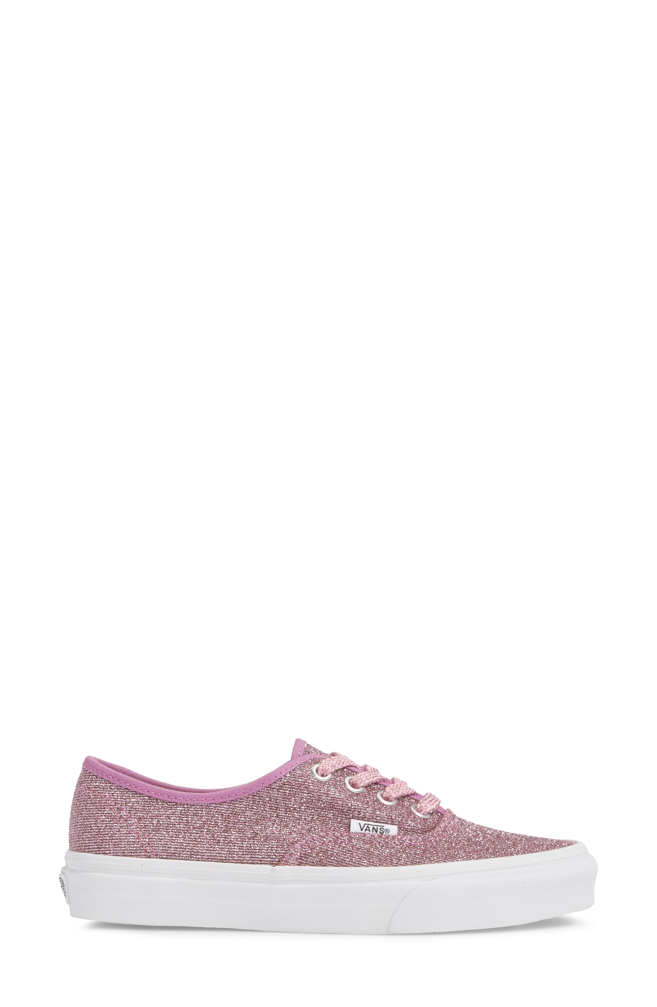 UA Authentic Lurex Sneaker,                             Alternate thumbnail 4, color,                             Pink/ True White Glitter