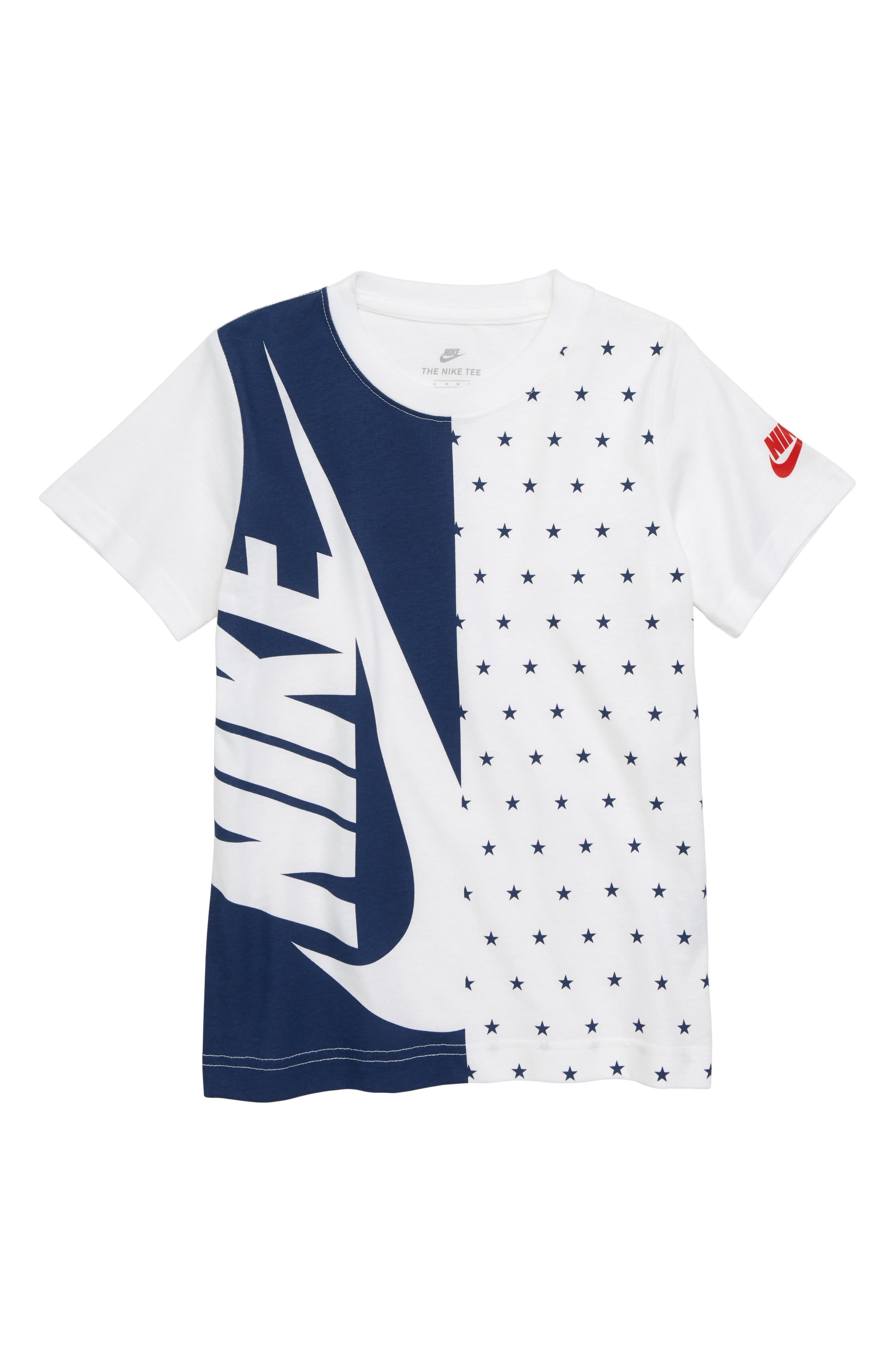 Split Futura Graphic T-Shirt,                             Main thumbnail 1, color,                             White/ Obsidian