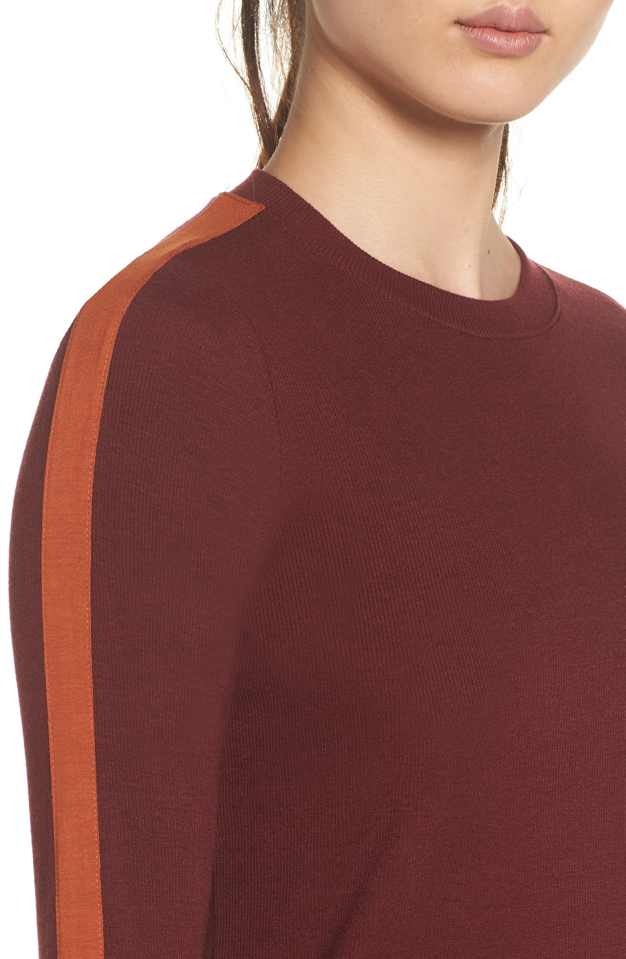 Defender Long-Sleeve Tee,                             Alternate thumbnail 3, color,                             Maroon/ Maple