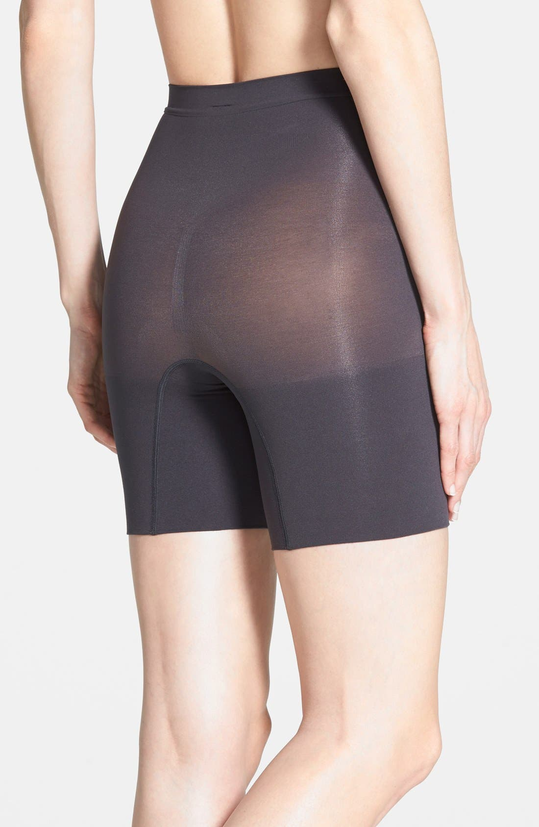 Power Short Mid Thigh Shaper,                             Alternate thumbnail 2, color,                             Very Black