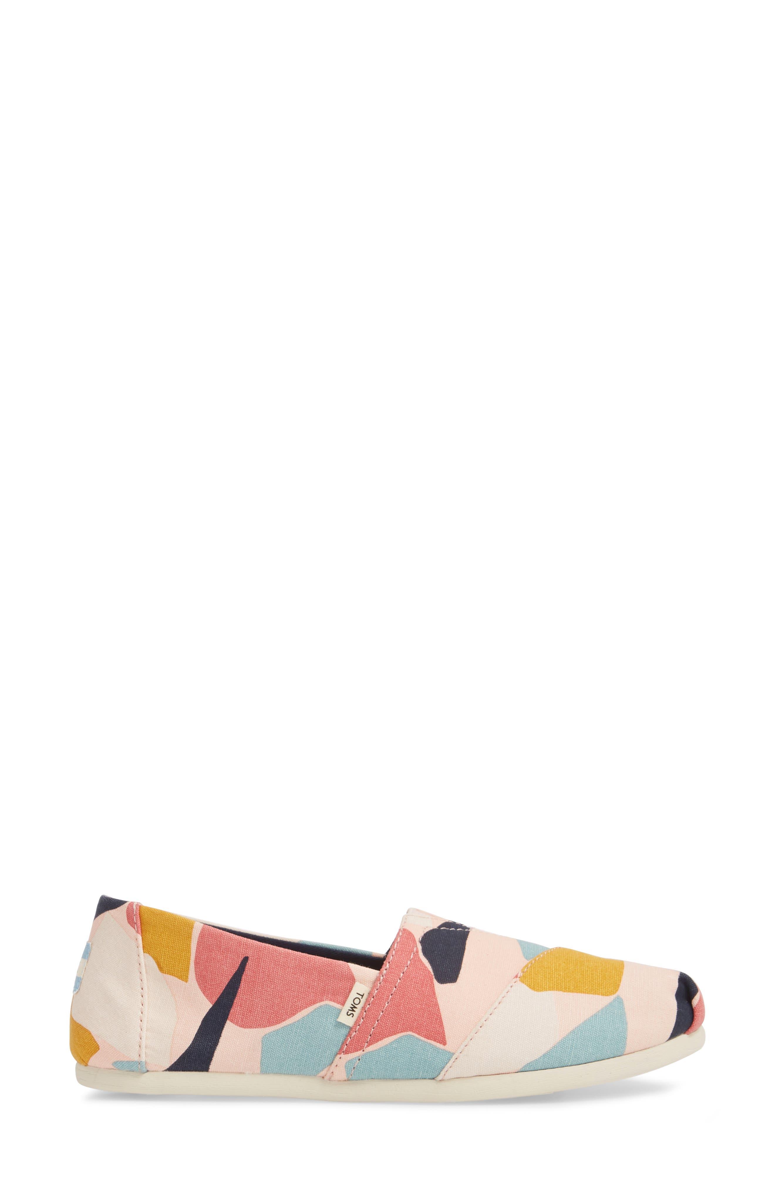 Alpargata Slip-On Sneaker,                             Alternate thumbnail 6, color,                             Rose Glow Print Canvas