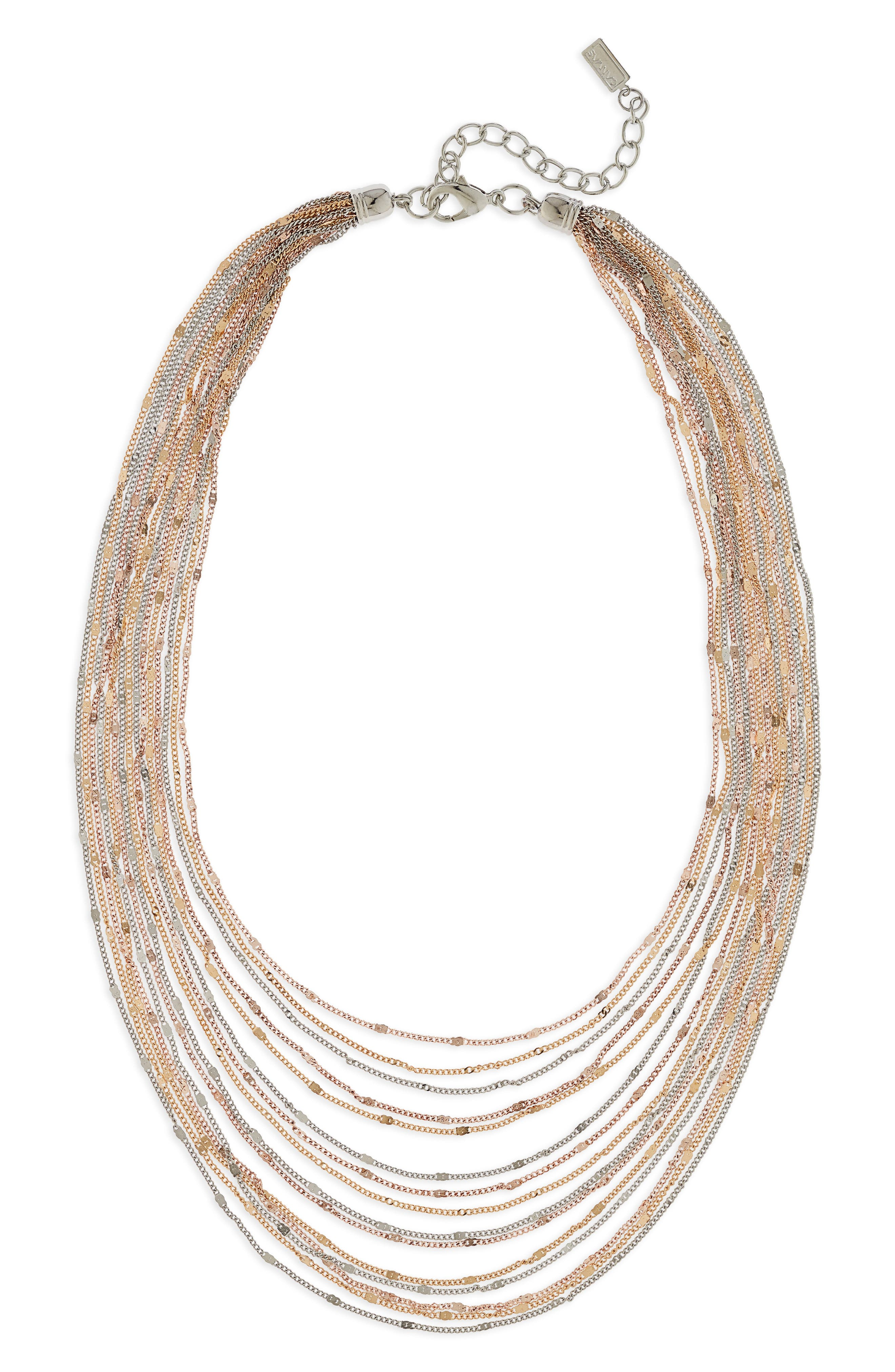 Multirow Necklace,                             Main thumbnail 1, color,                             Tritone
