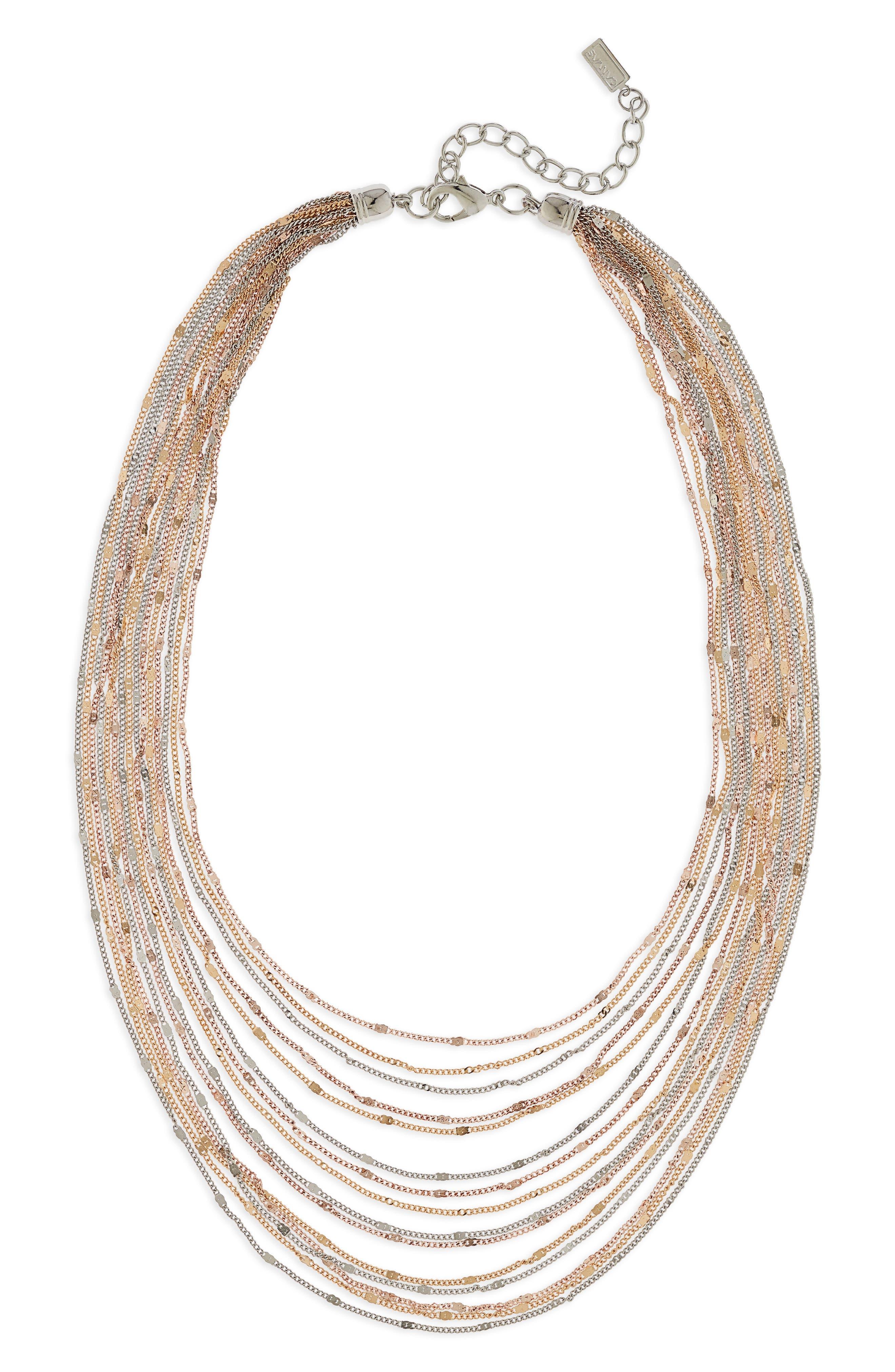 Multirow Necklace,                         Main,                         color, Tritone
