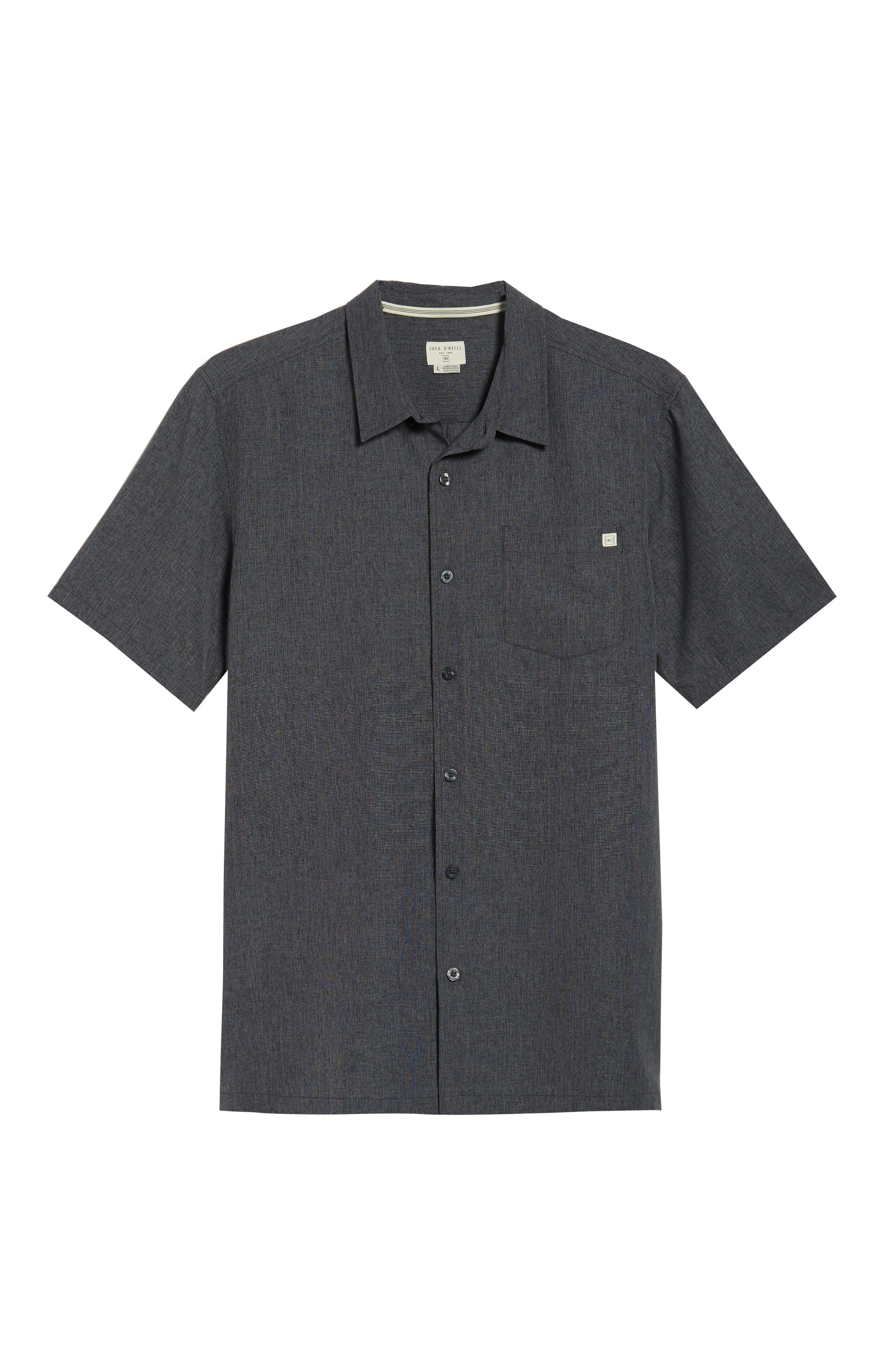 Liberty Regular Fit Short Sleeve Sport Shirt,                             Alternate thumbnail 6, color,                             Light Grey