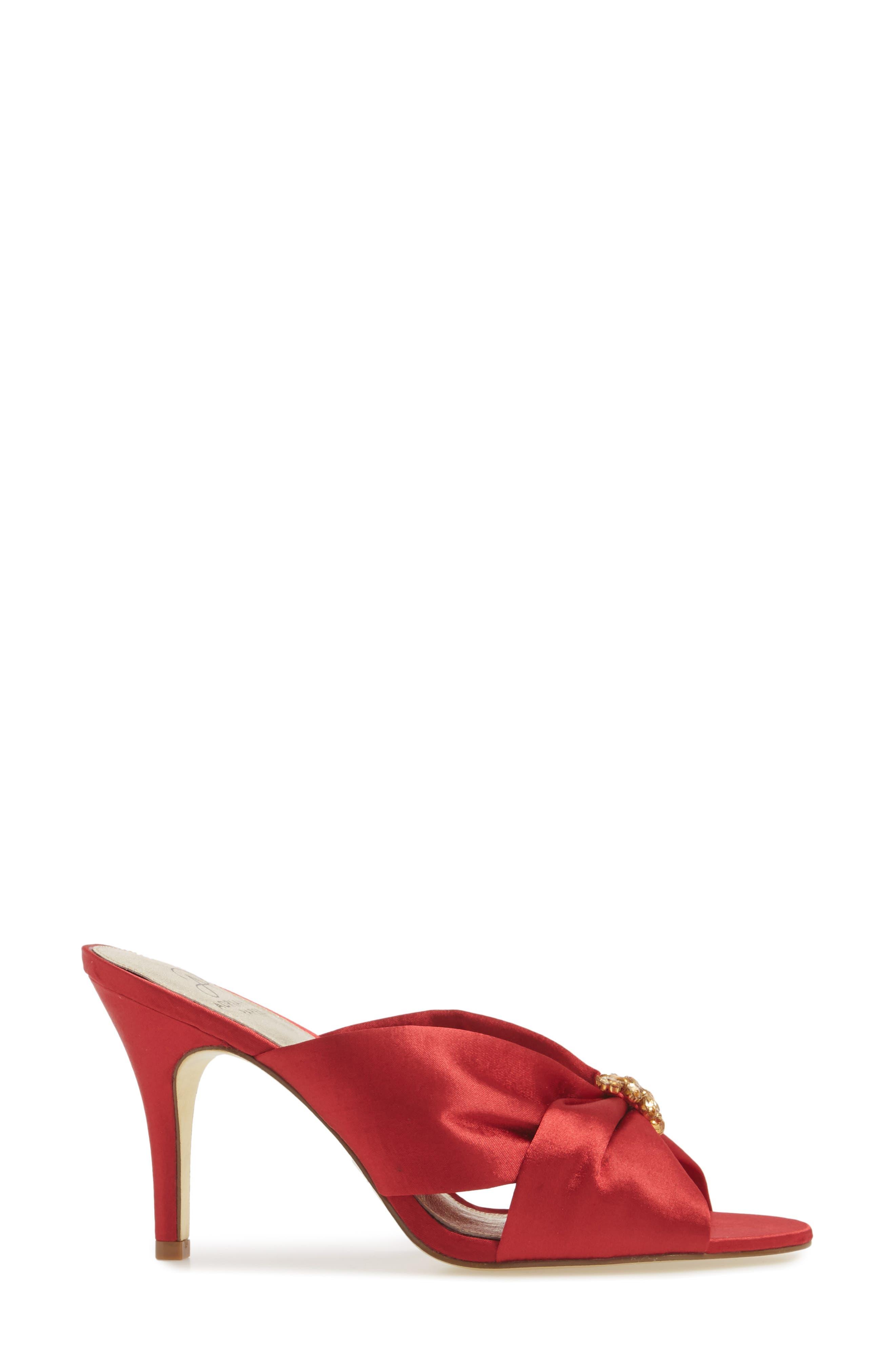 Flo Sandal,                             Alternate thumbnail 5, color,                             Red Satin