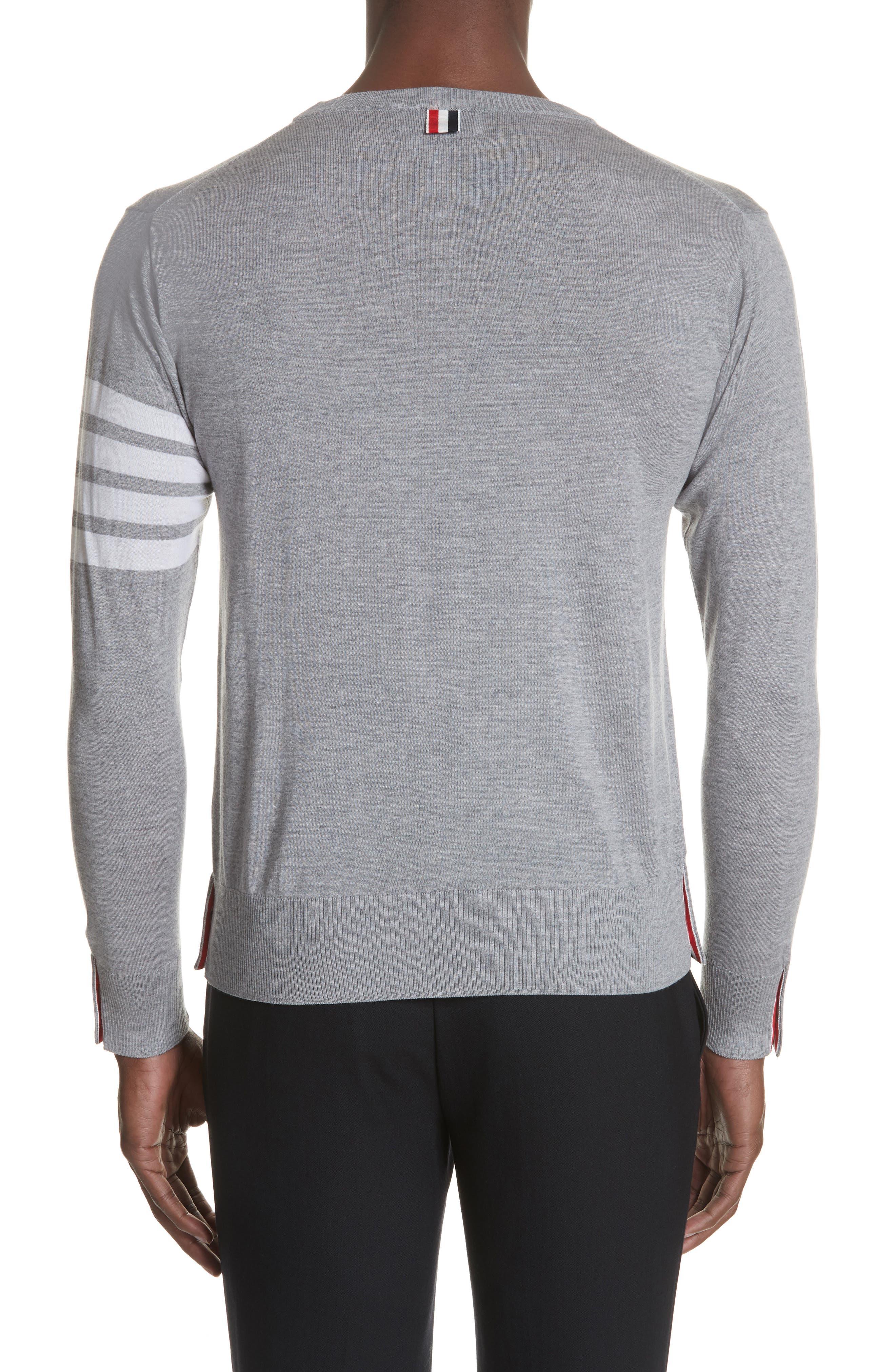 Merino Wool Pullover,                             Alternate thumbnail 2, color,                             Light Grey