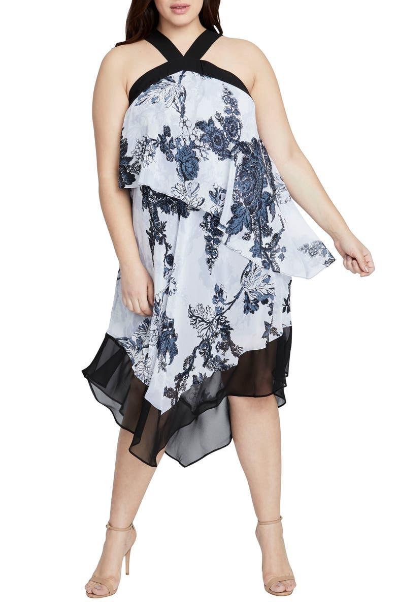 Print Chiffon Scarf Dress