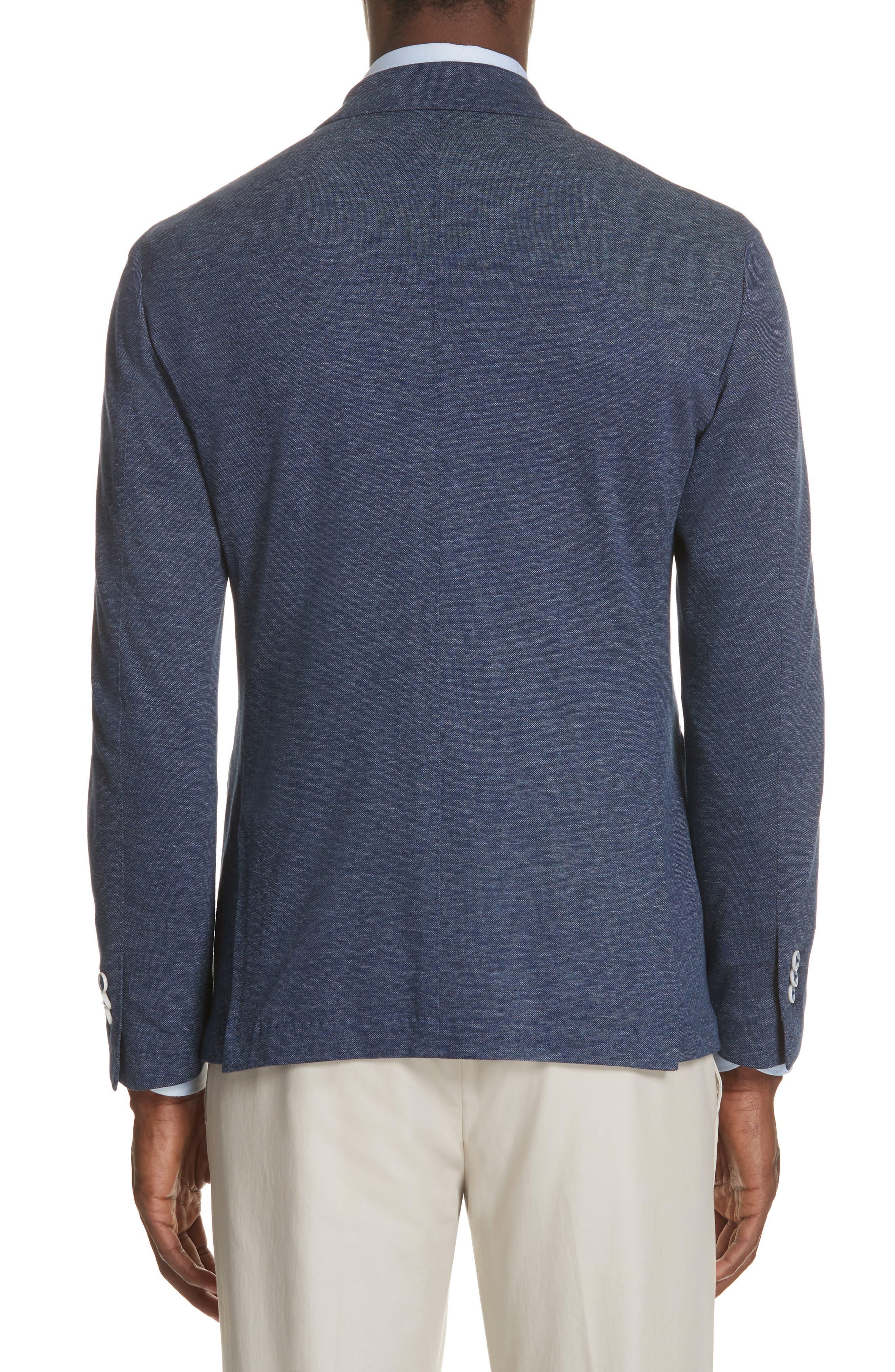 Slim Fit Cotton Blazer,                             Alternate thumbnail 2, color,                             Blue