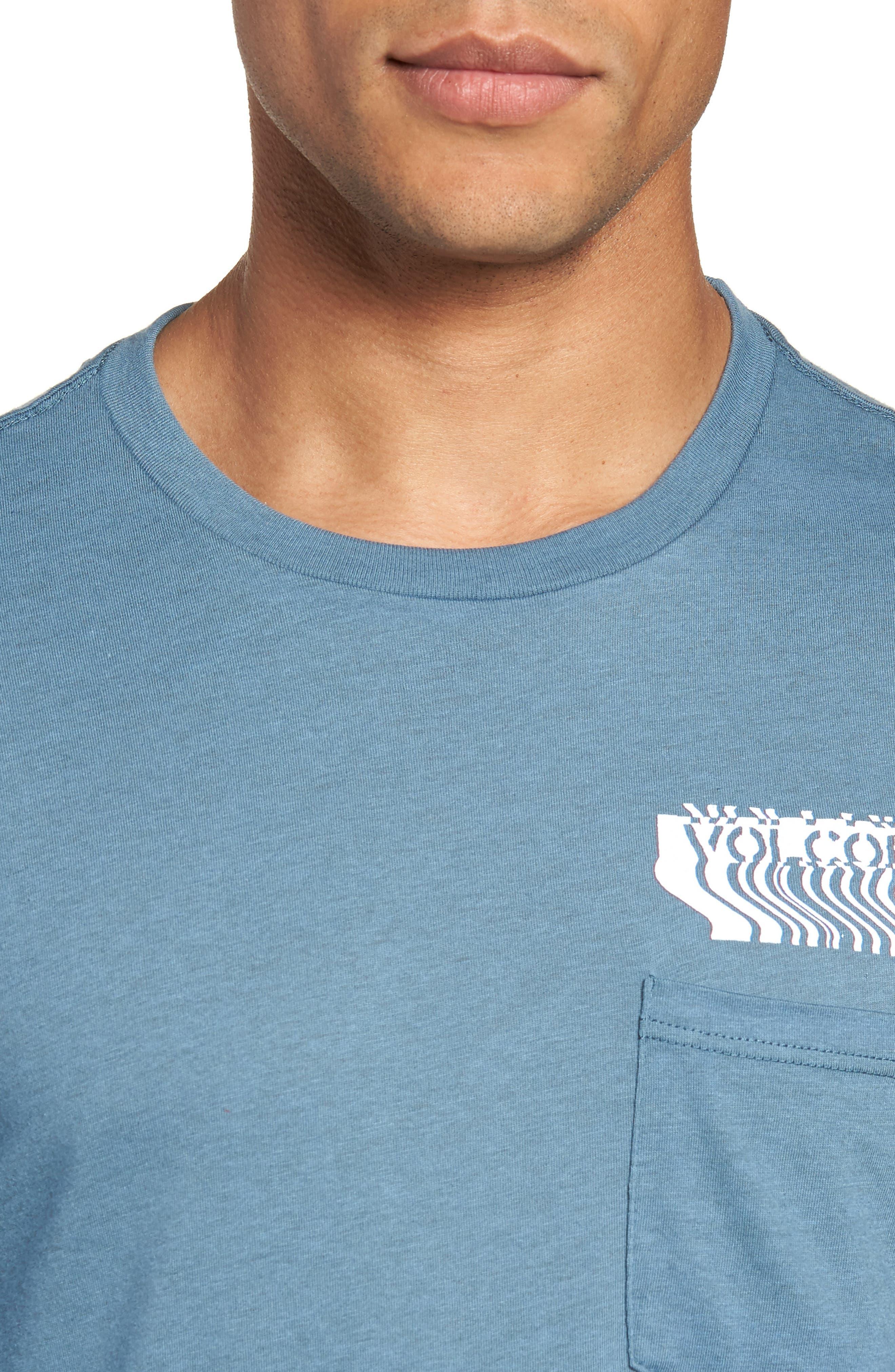 Bard Pocket Cotton Blend T-Shirt,                             Alternate thumbnail 4, color,                             Indigo