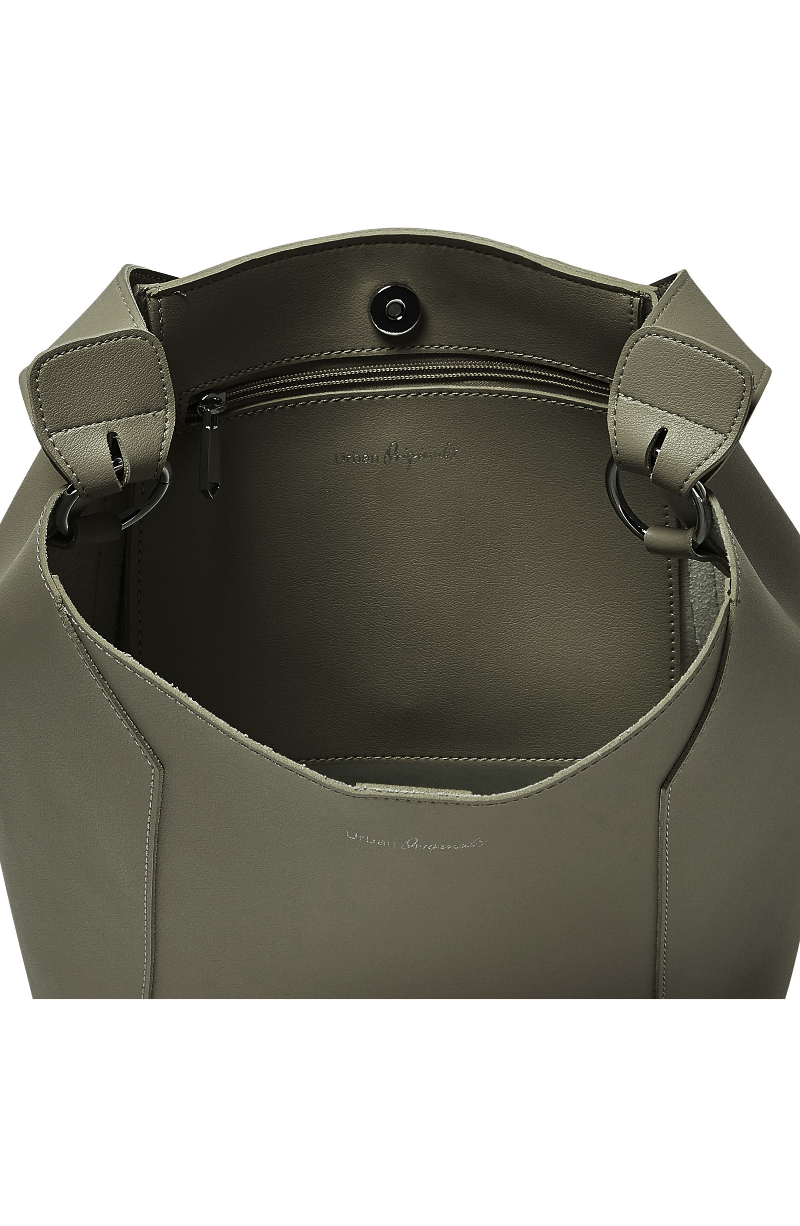 Day Dream Vegan Leather Hobo,                             Alternate thumbnail 3, color,                             Army Green