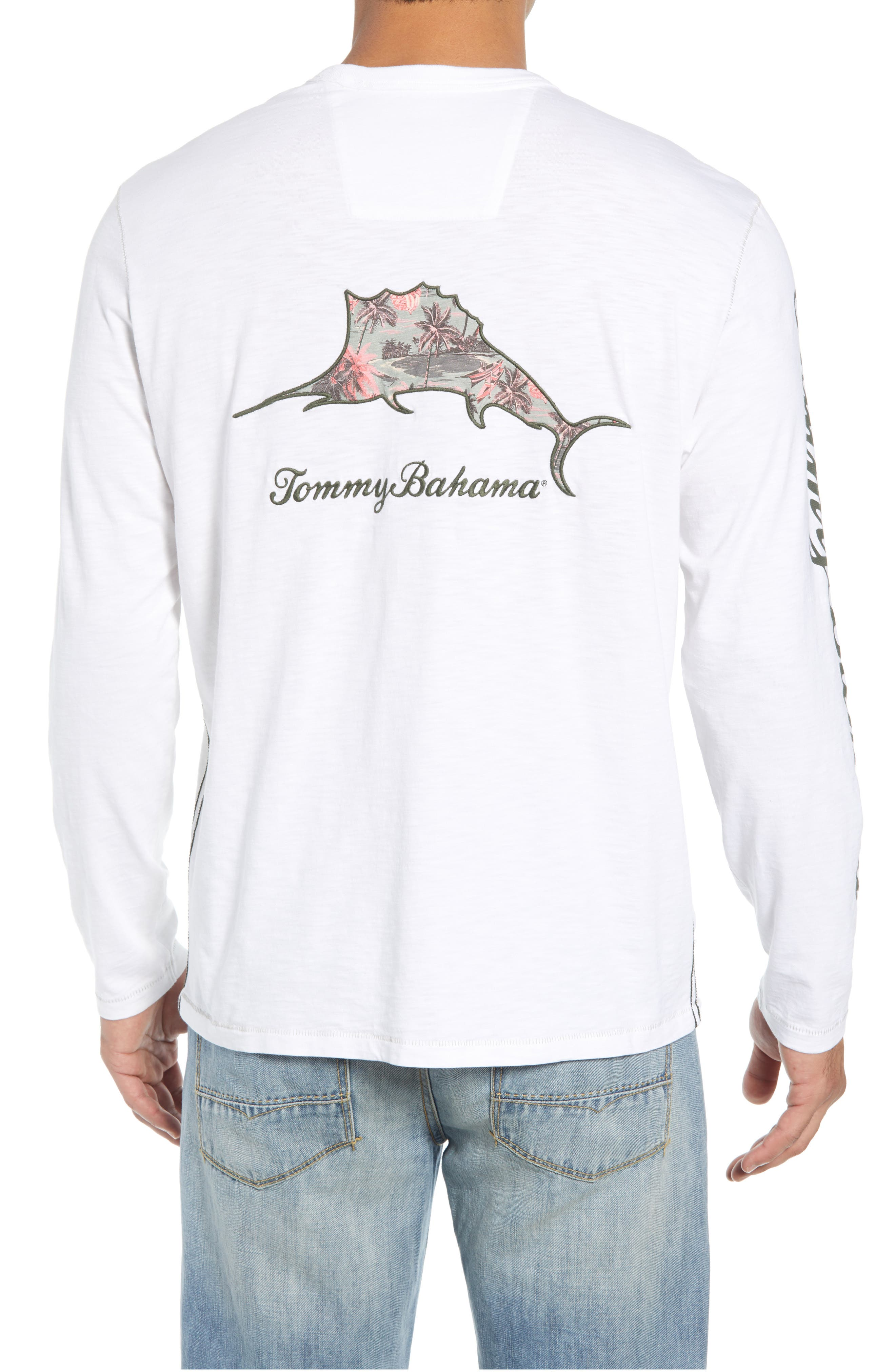 Palm Billboard Marlin Lux Long Sleeve T-Shirt,                             Alternate thumbnail 2, color,                             White