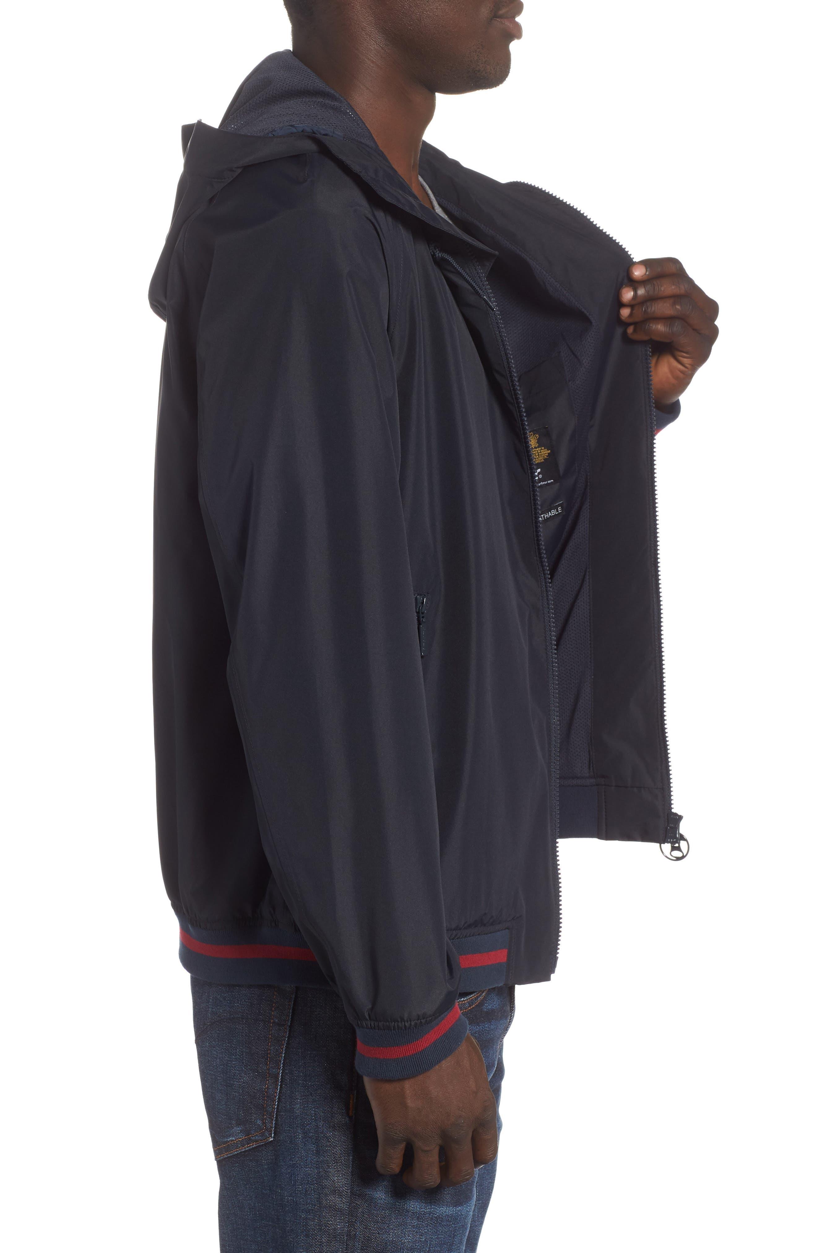 Twent Waterproof Jacket,                             Alternate thumbnail 5, color,                             Navy