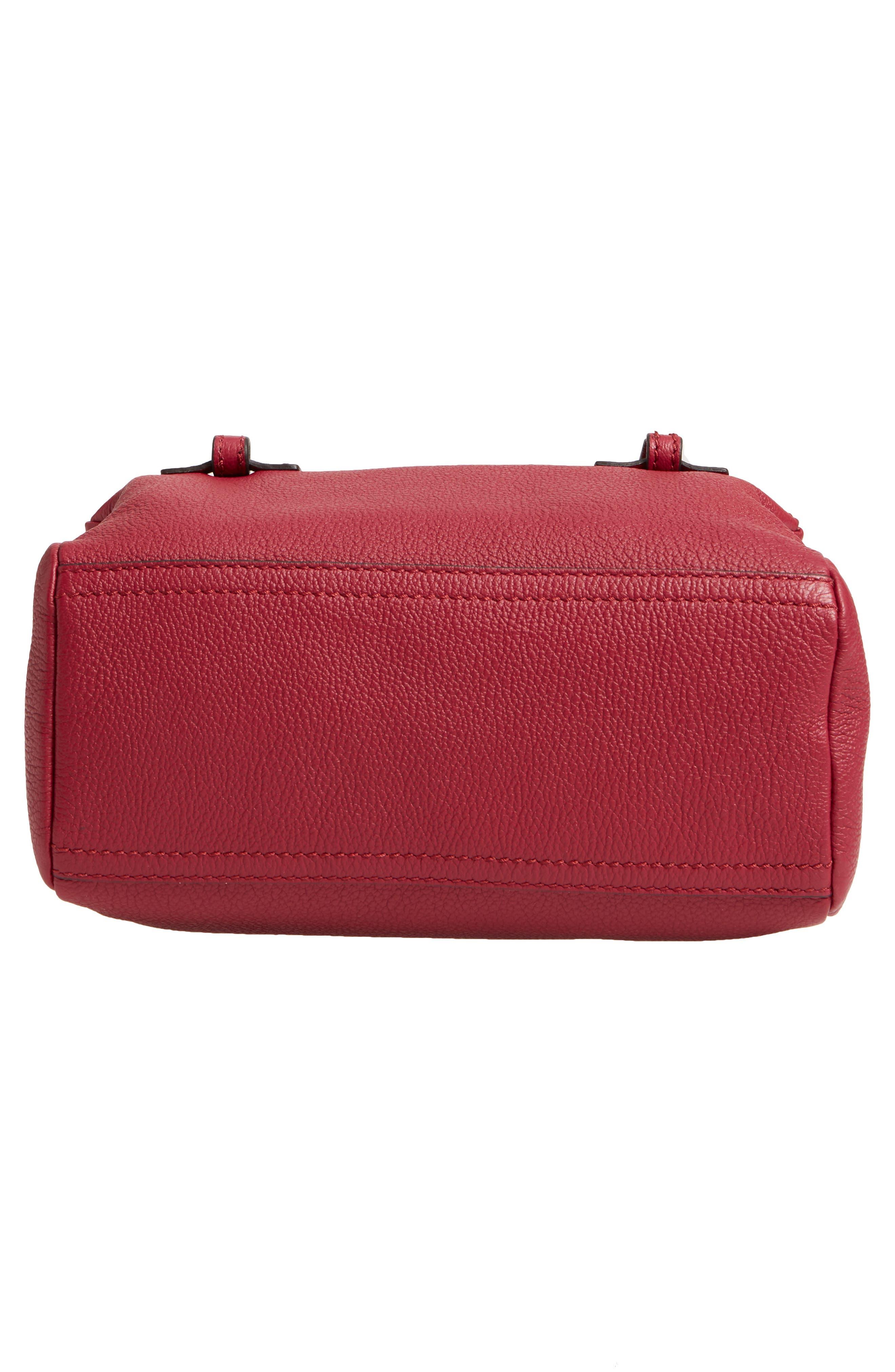 'Mini Pandora' Sugar Leather Shoulder Bag,                             Alternate thumbnail 3, color,                             Fig Pink