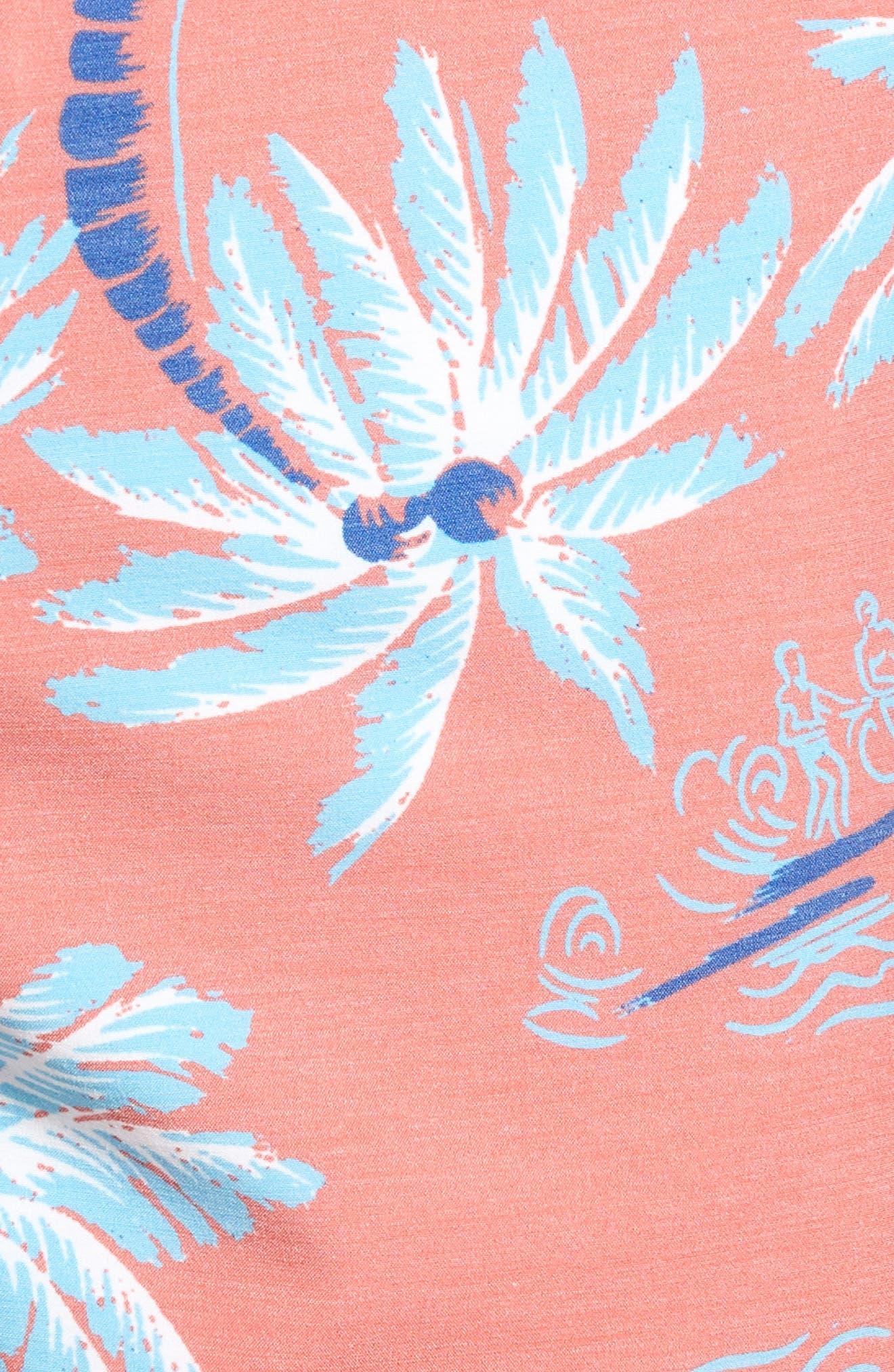 Classic Board Shorts,                             Alternate thumbnail 4, color,                             Red Palm Hawaiian