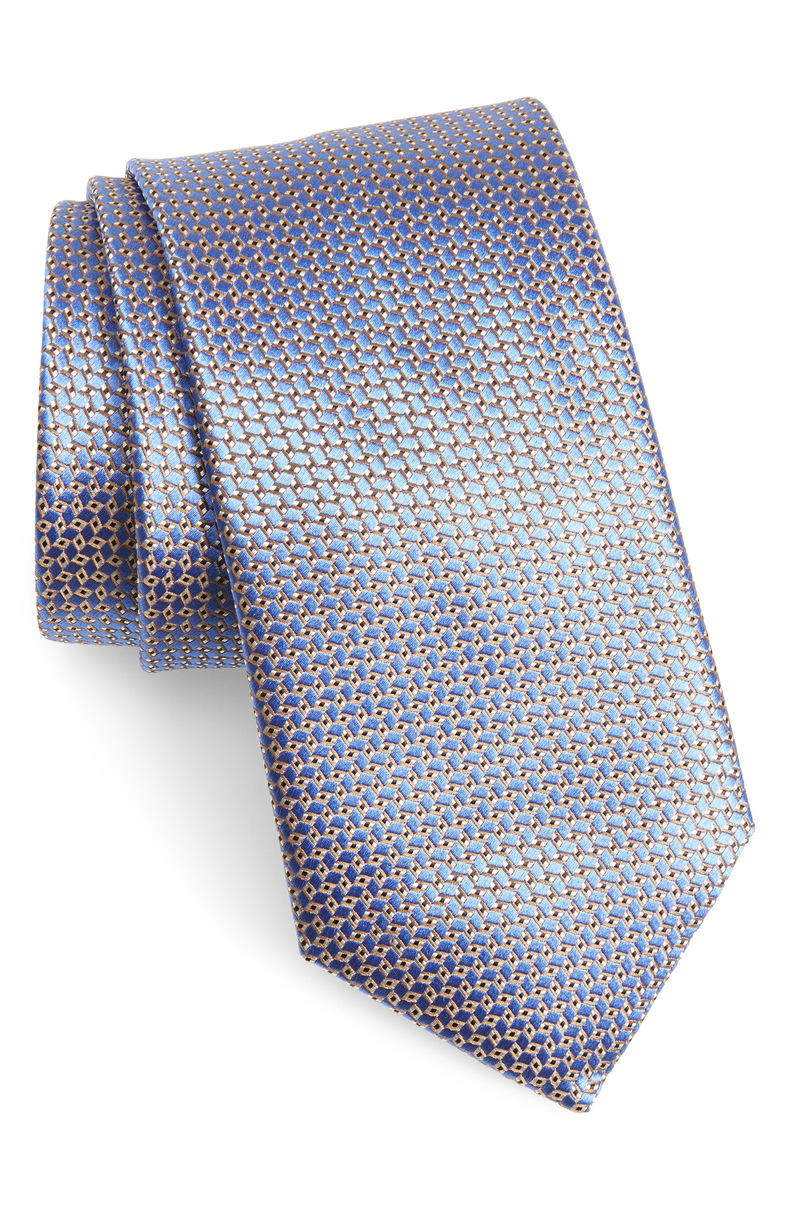 Solid Silk Tie,                         Main,                         color, Light Blue