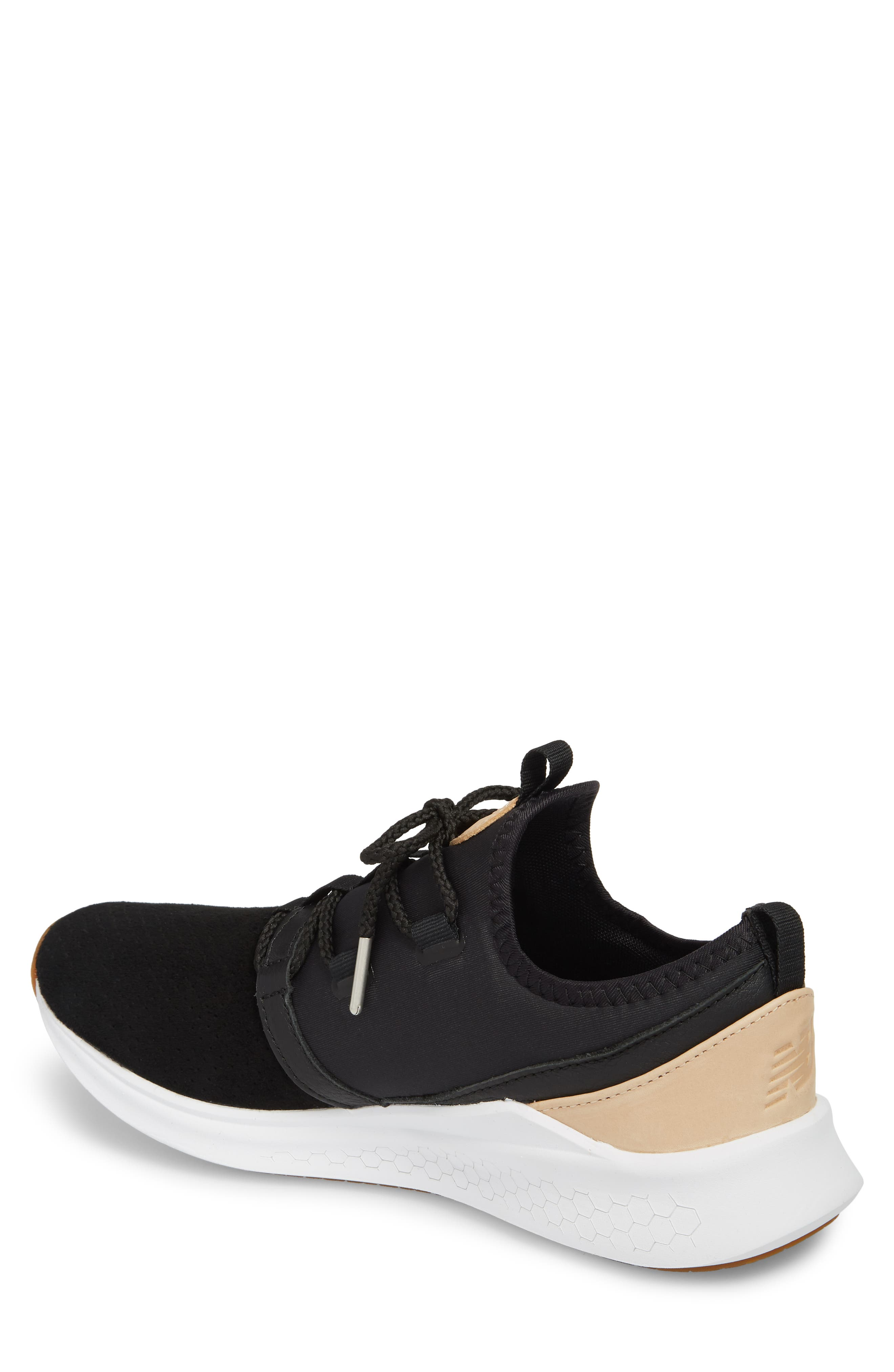 Fresh Foam Lazer Luxe Sneaker,                             Alternate thumbnail 2, color,                             Black