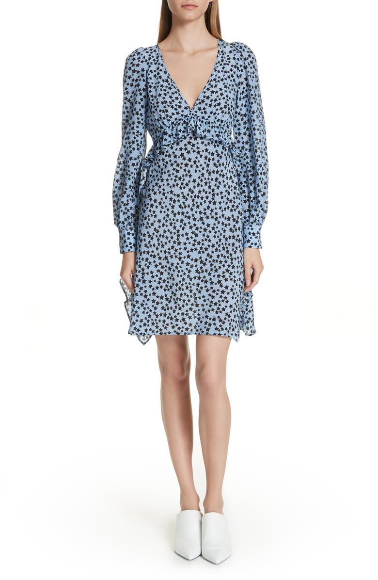 N?21 Star Print Silk Dress