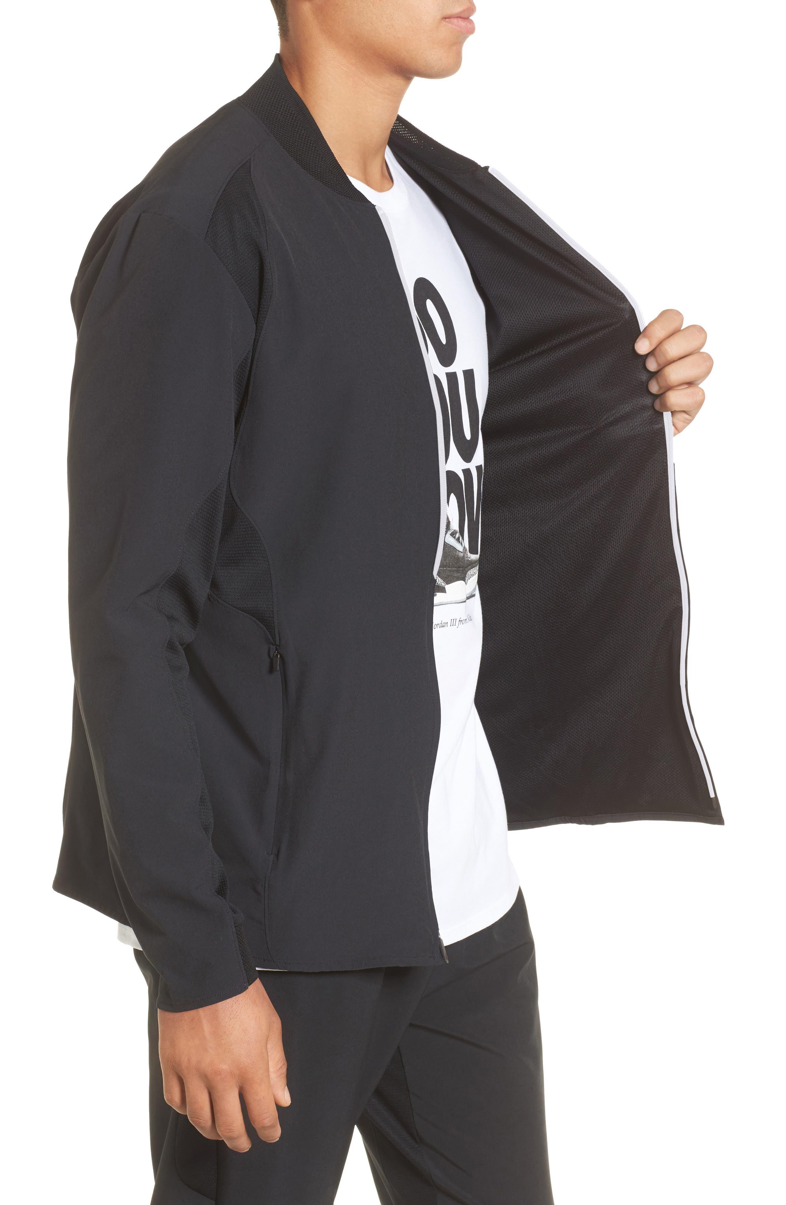 23 Alpha Dry Jacket,                             Alternate thumbnail 4, color,                             Black/ White