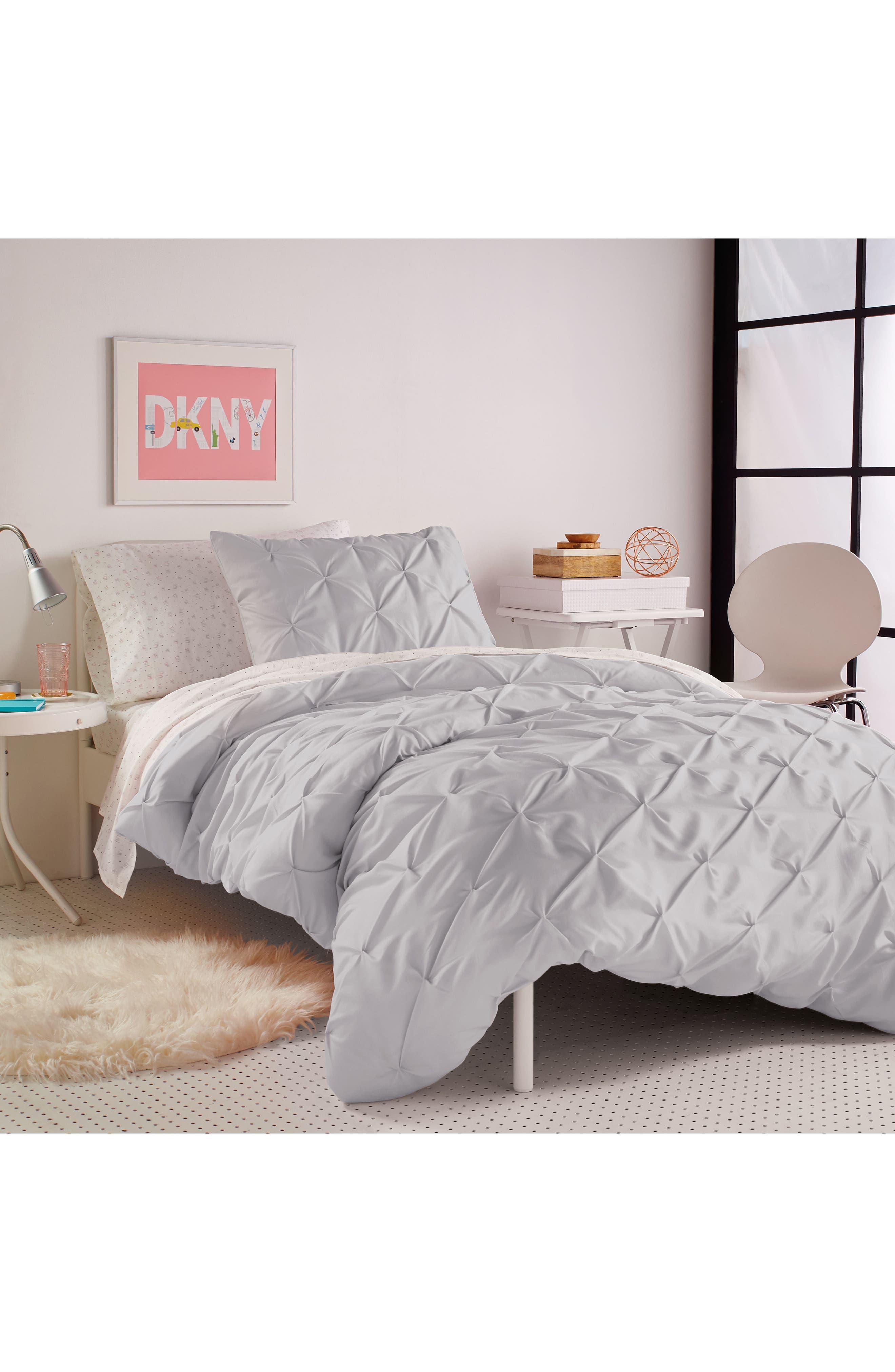 Comforter & Sham Set,                             Alternate thumbnail 4, color,                             Grey