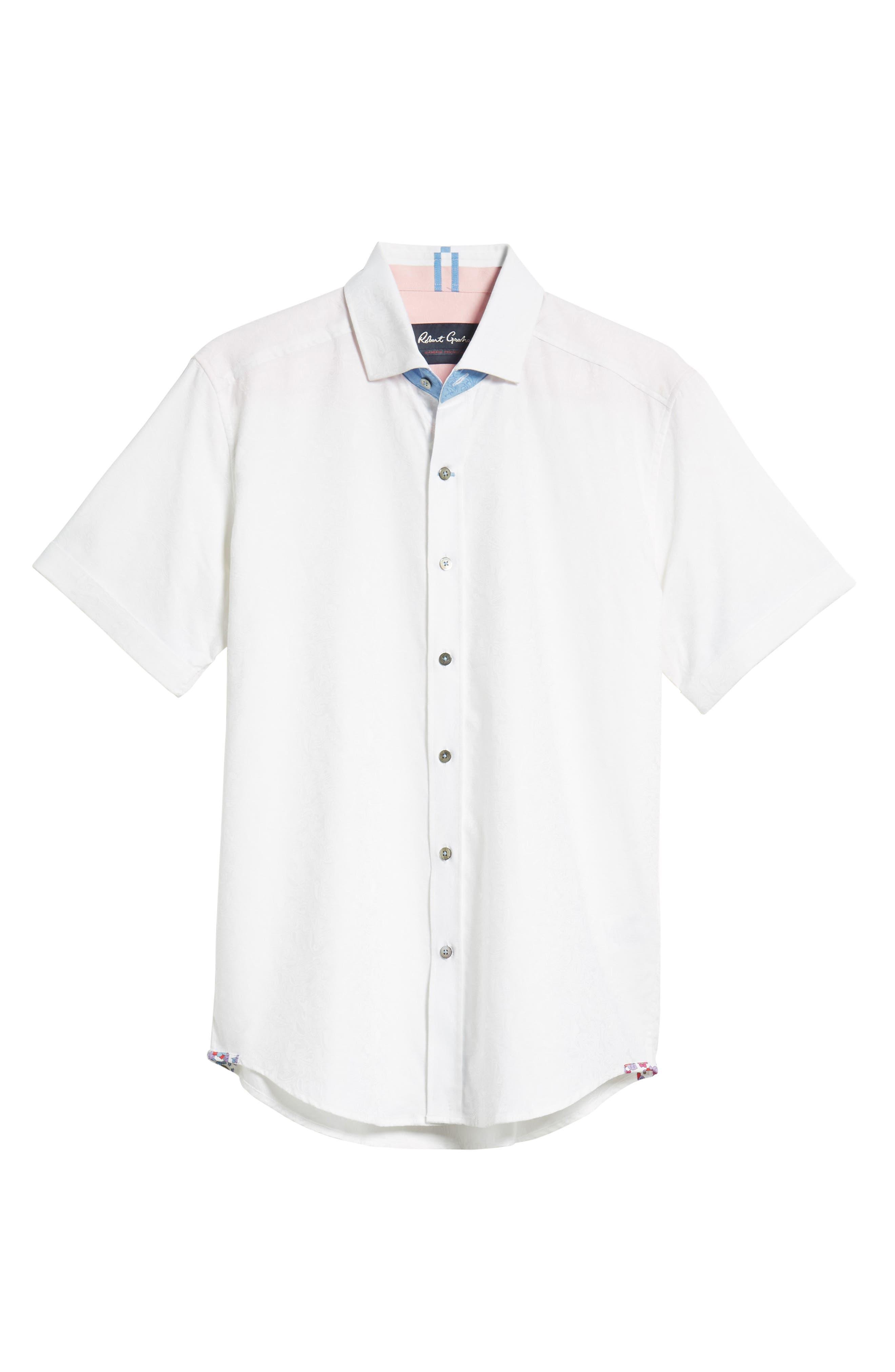 Abbott Sport Shirt,                             Alternate thumbnail 6, color,                             White