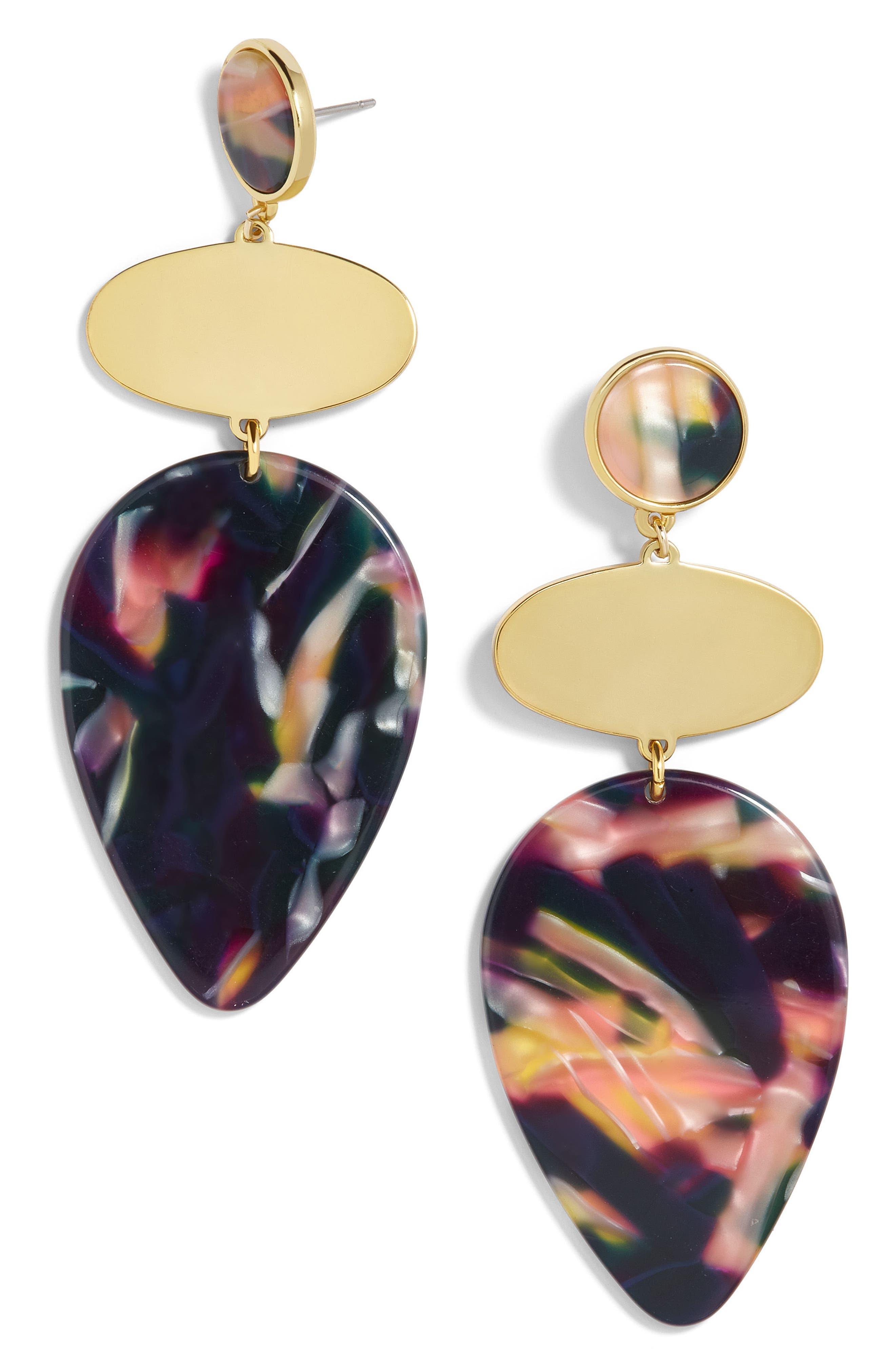 Fareena Drop Earrings,                         Main,                         color, Black