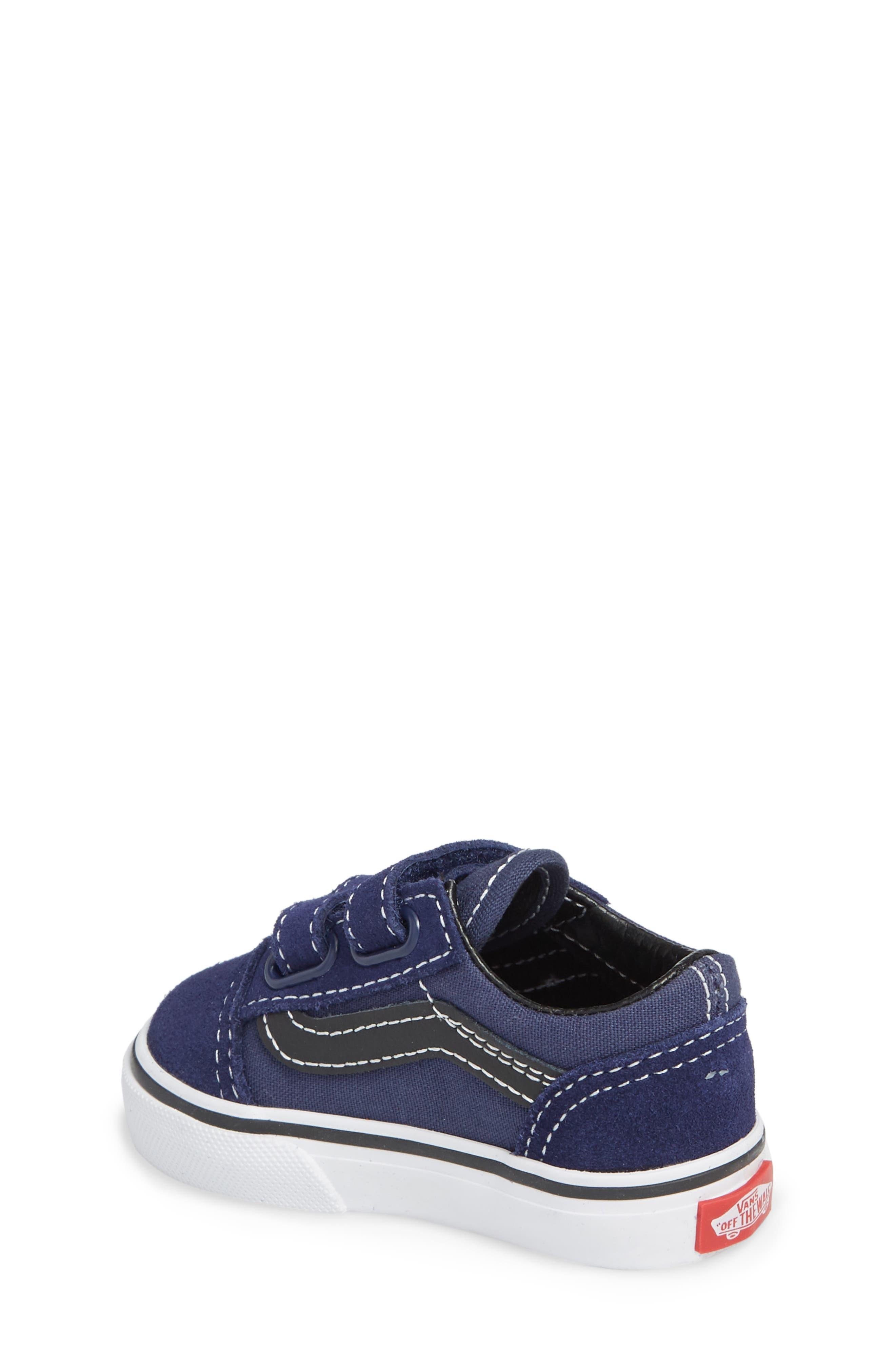 Old Skool V Sneaker,                             Alternate thumbnail 2, color,                             Medieval Blue/ Black