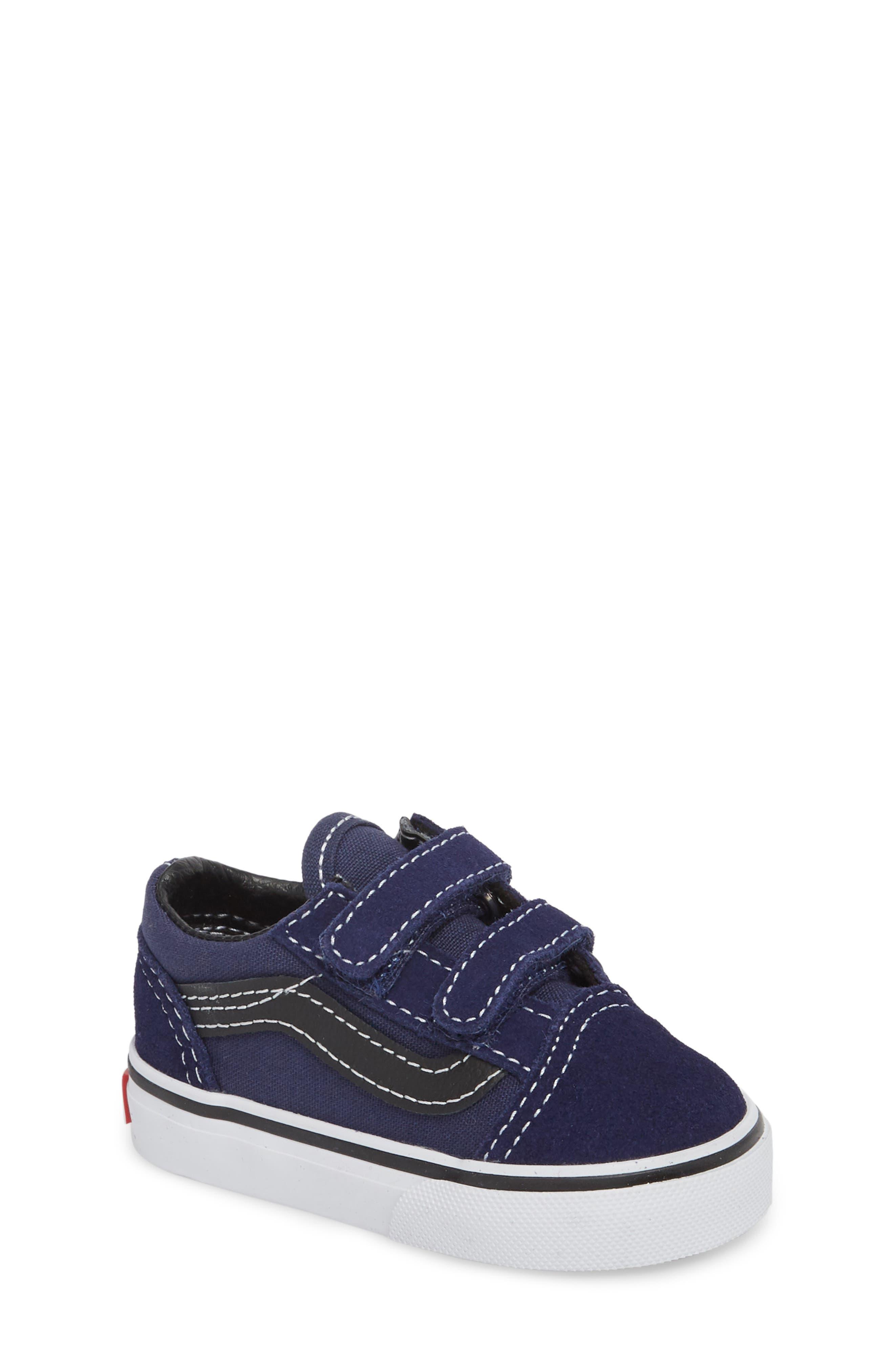 Old Skool V Sneaker,                         Main,                         color, Medieval Blue/ Black